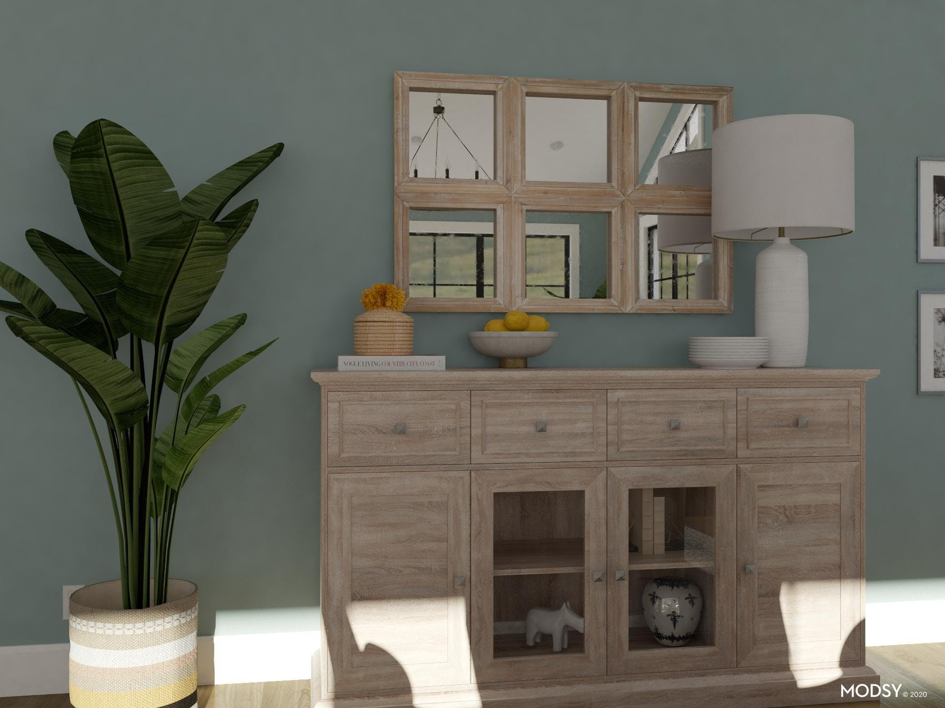 Weathered Wood And Linen: Dining Room