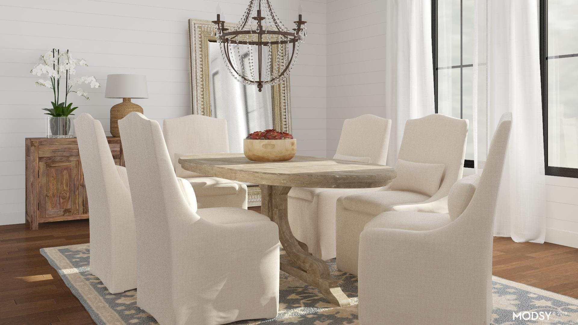 Traditional Dining Room with Rustic Charm