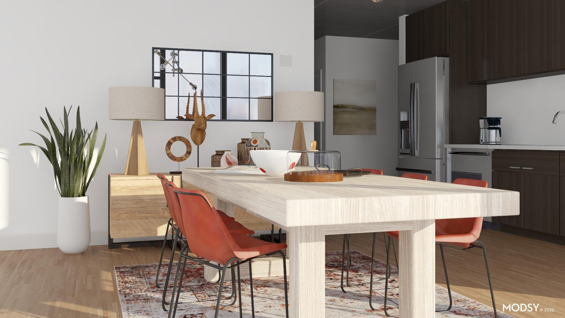 Earth Tone Industrial Kitchen
