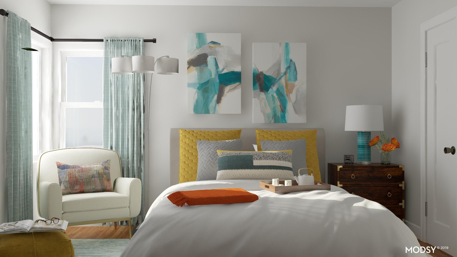 Contemporary and Comfortable Multi-Colored Guest Suite!