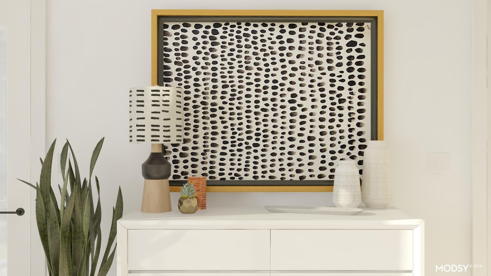 A Black & White Eclectic Touch