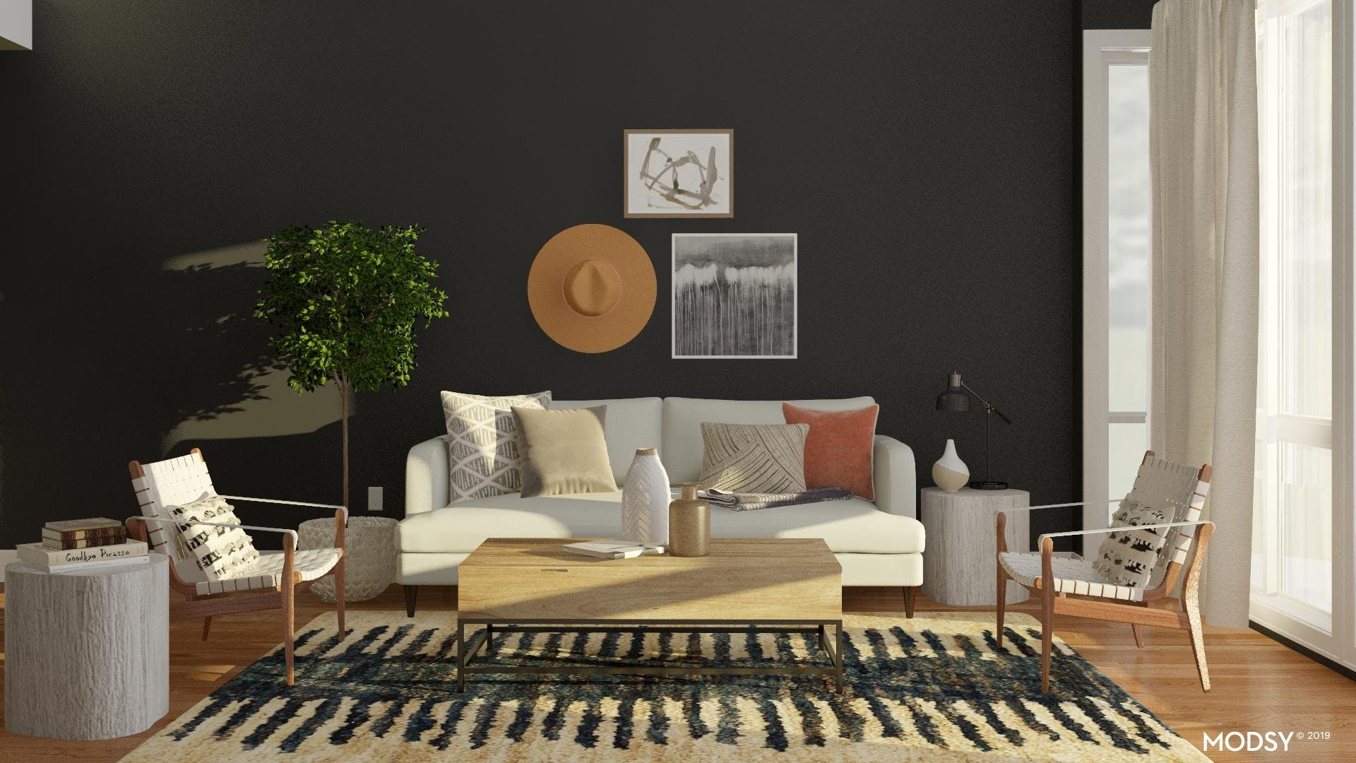 Modern Rustic Living Room with a Twist!
