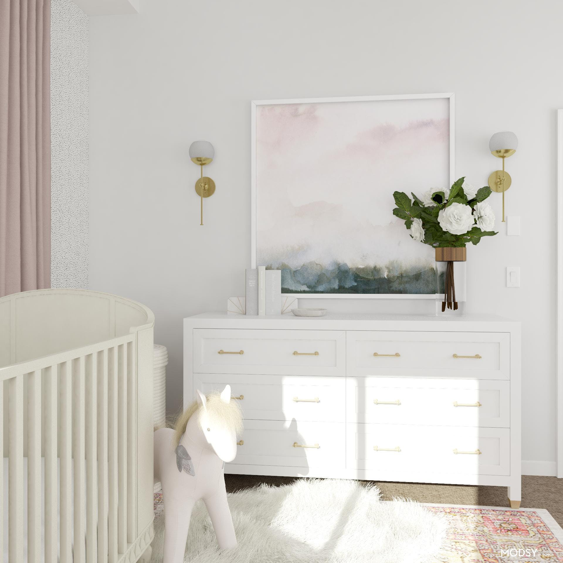 Pink, Gold and White: Glam Nursery Details