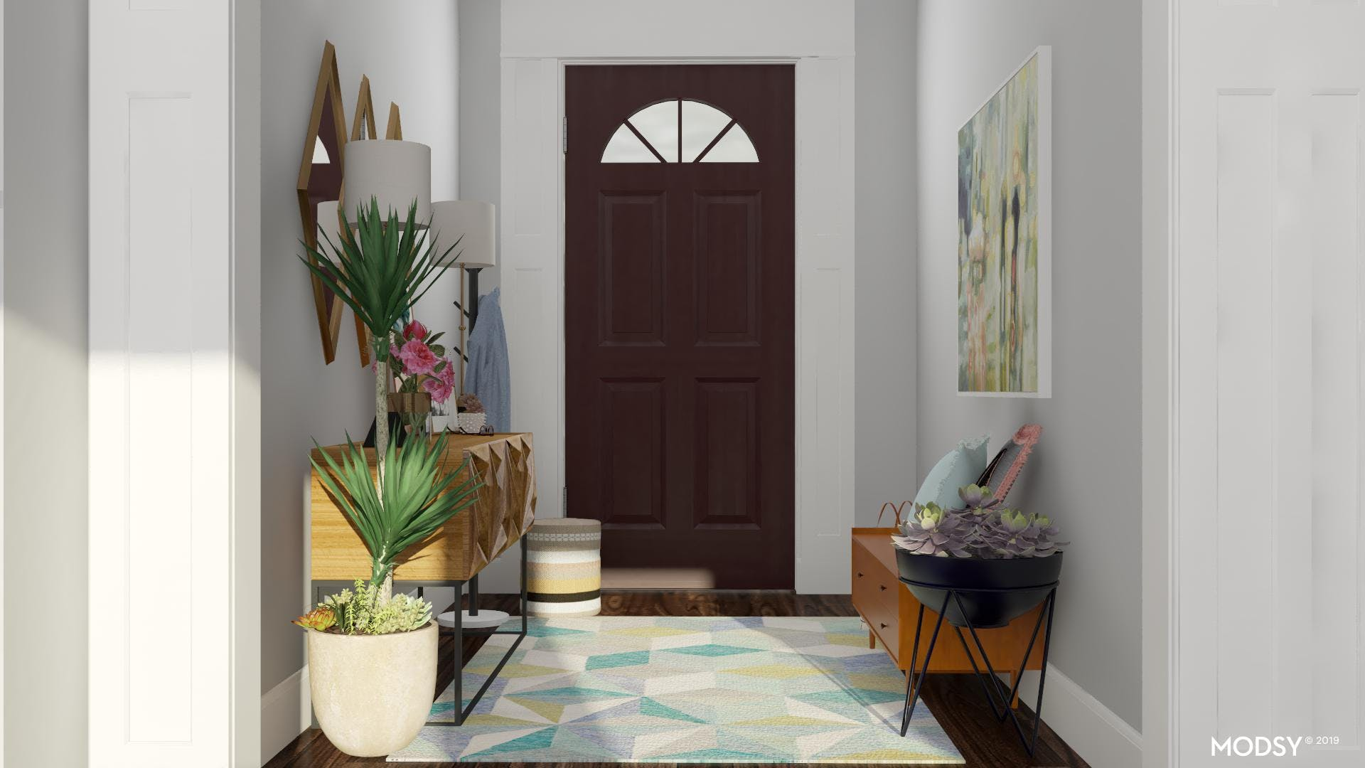 Forever Spring In Minty Pastels: Entryway Welcome