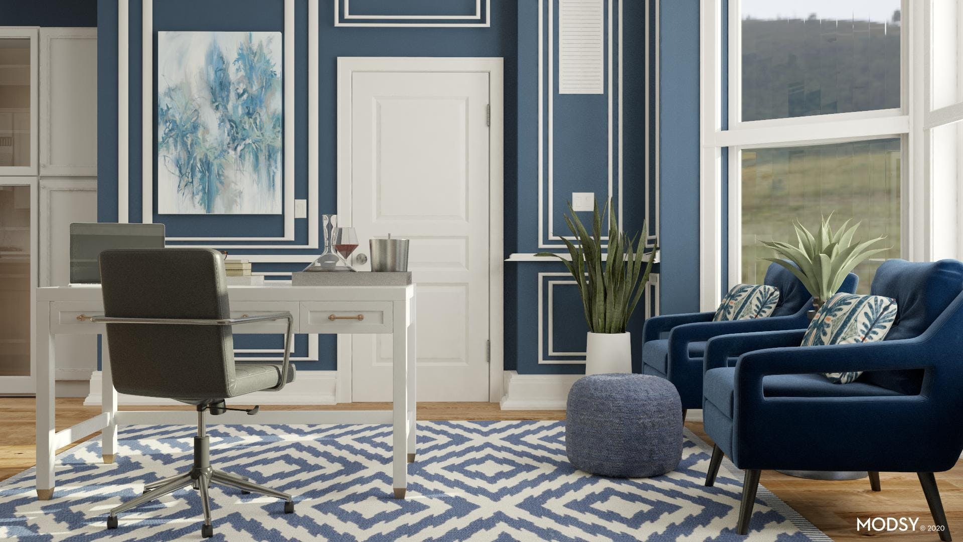 Blue Transitional Office