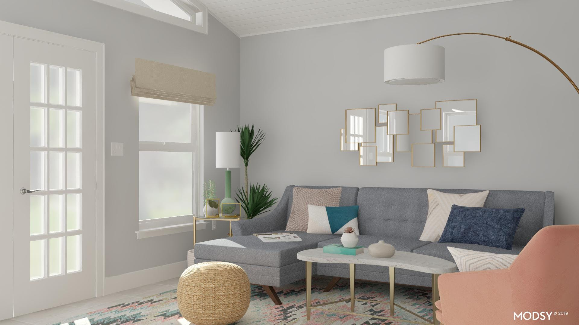 Modern Pastels Stylishly Update Your Living Room