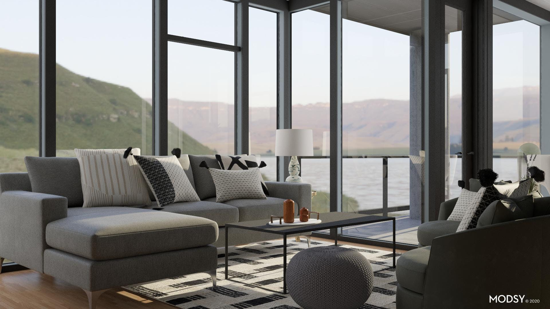 Simple Lines: Contemporary Living Room