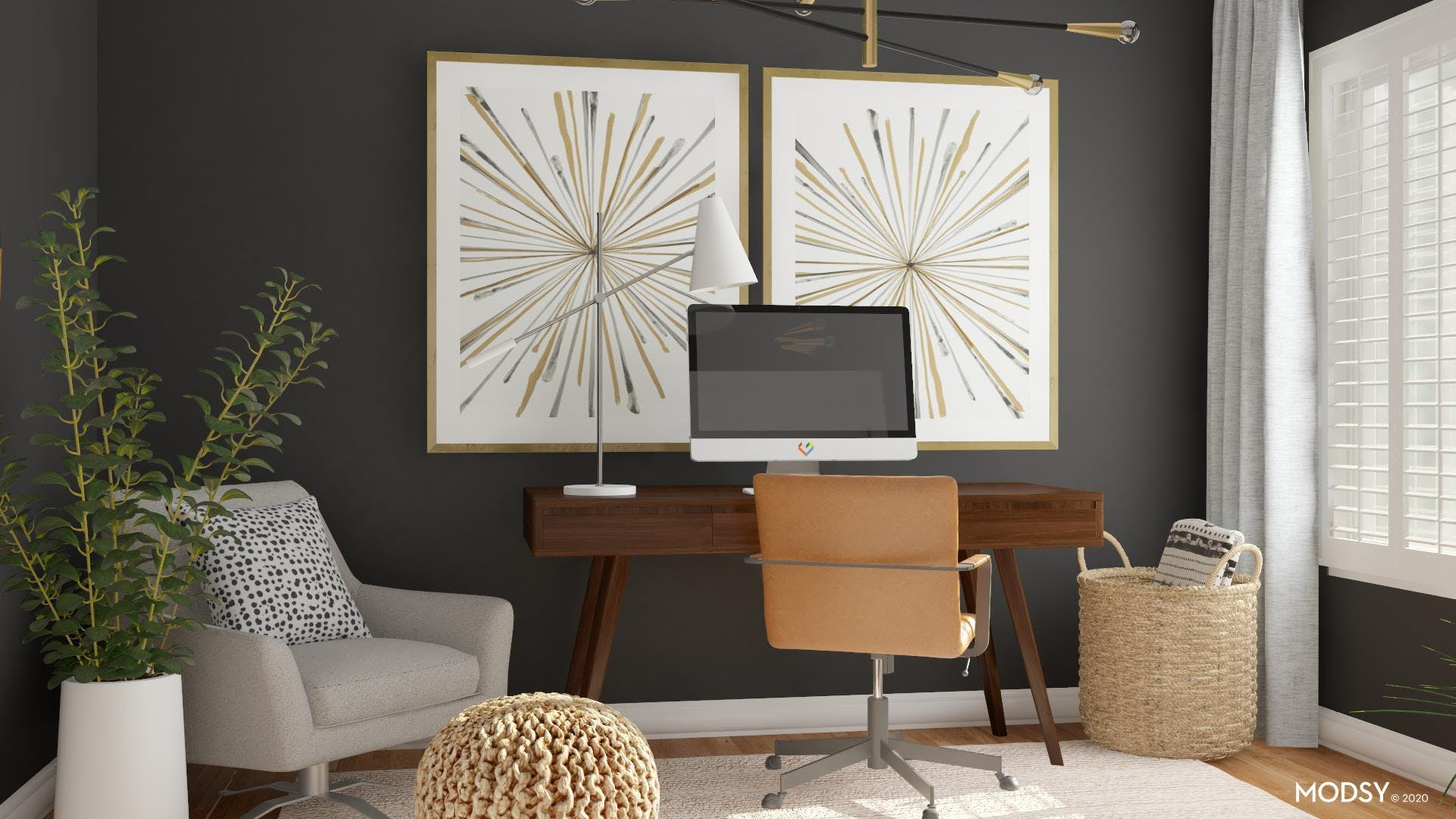 Mixing Materials: Mid-Century Office
