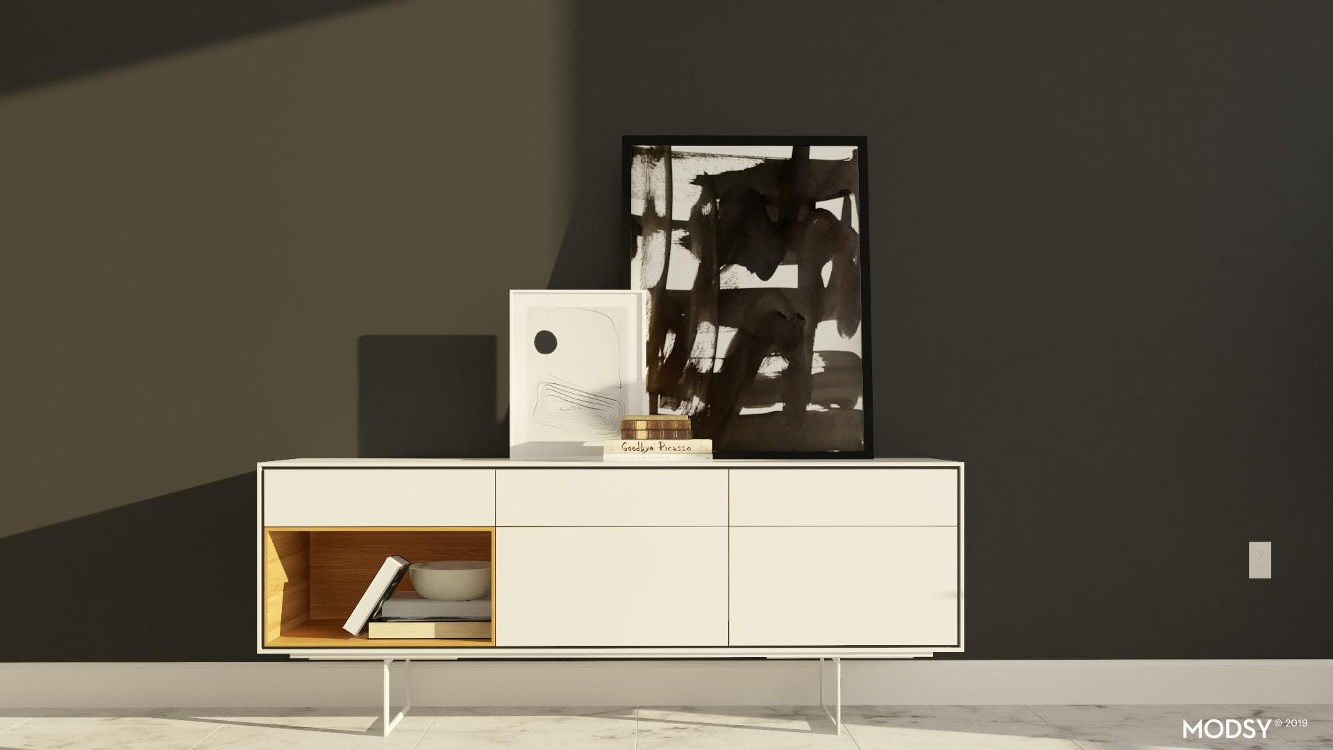 Neutral Dining Room Credenza