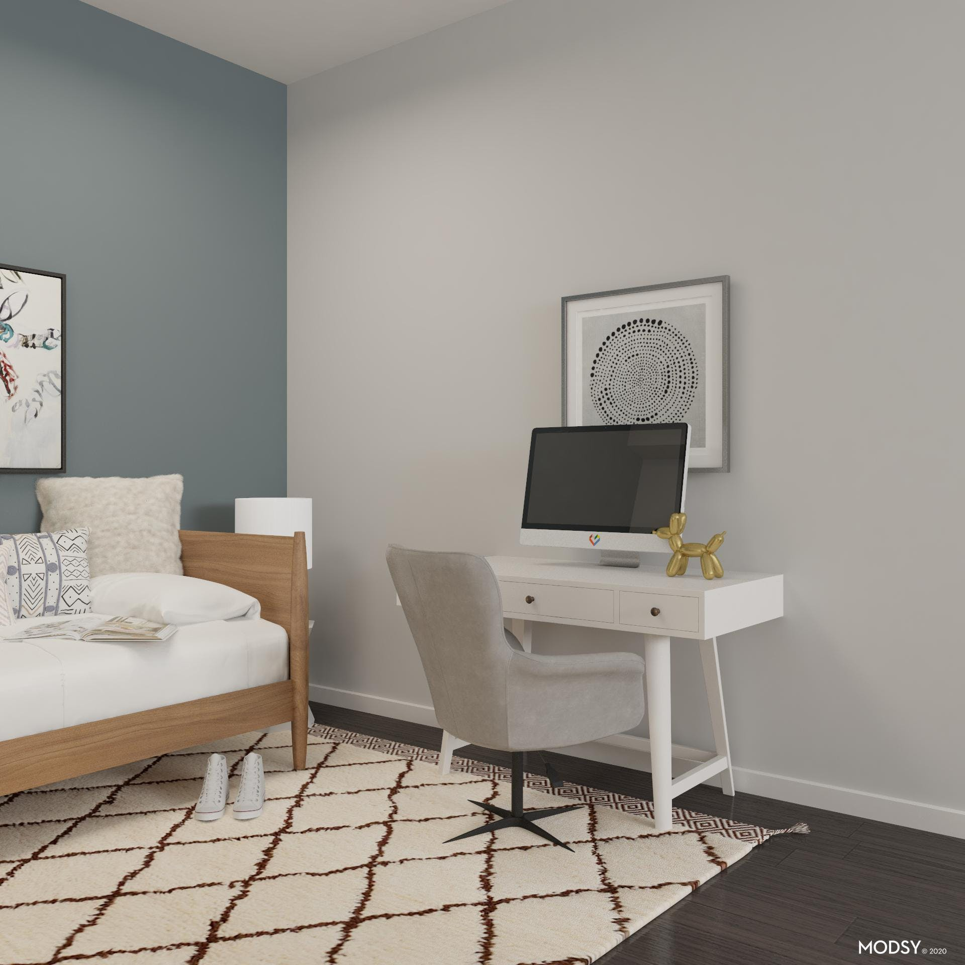 Working Area in Studio Apartment
