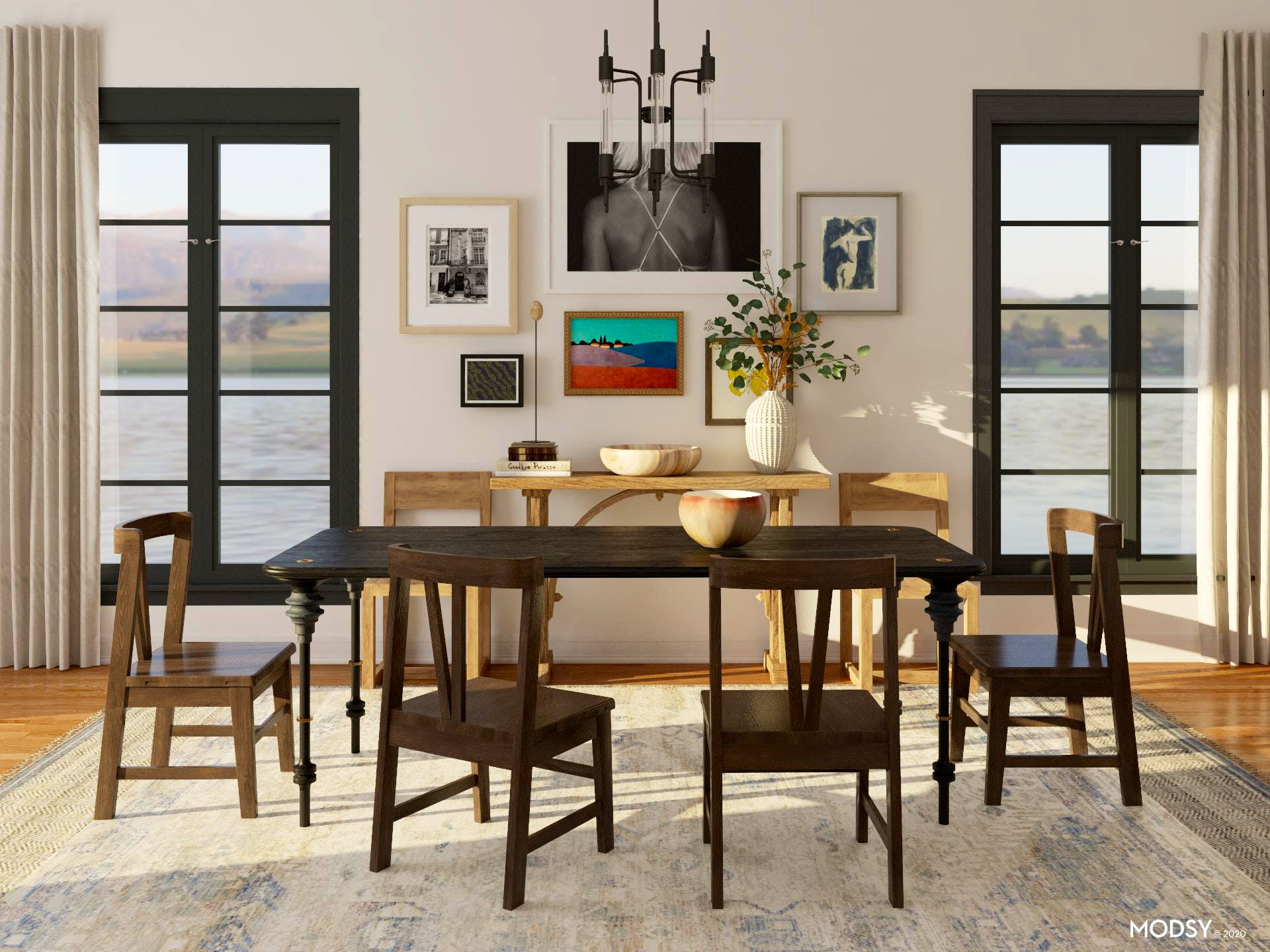 Eclectic Rustic Dining Room Design