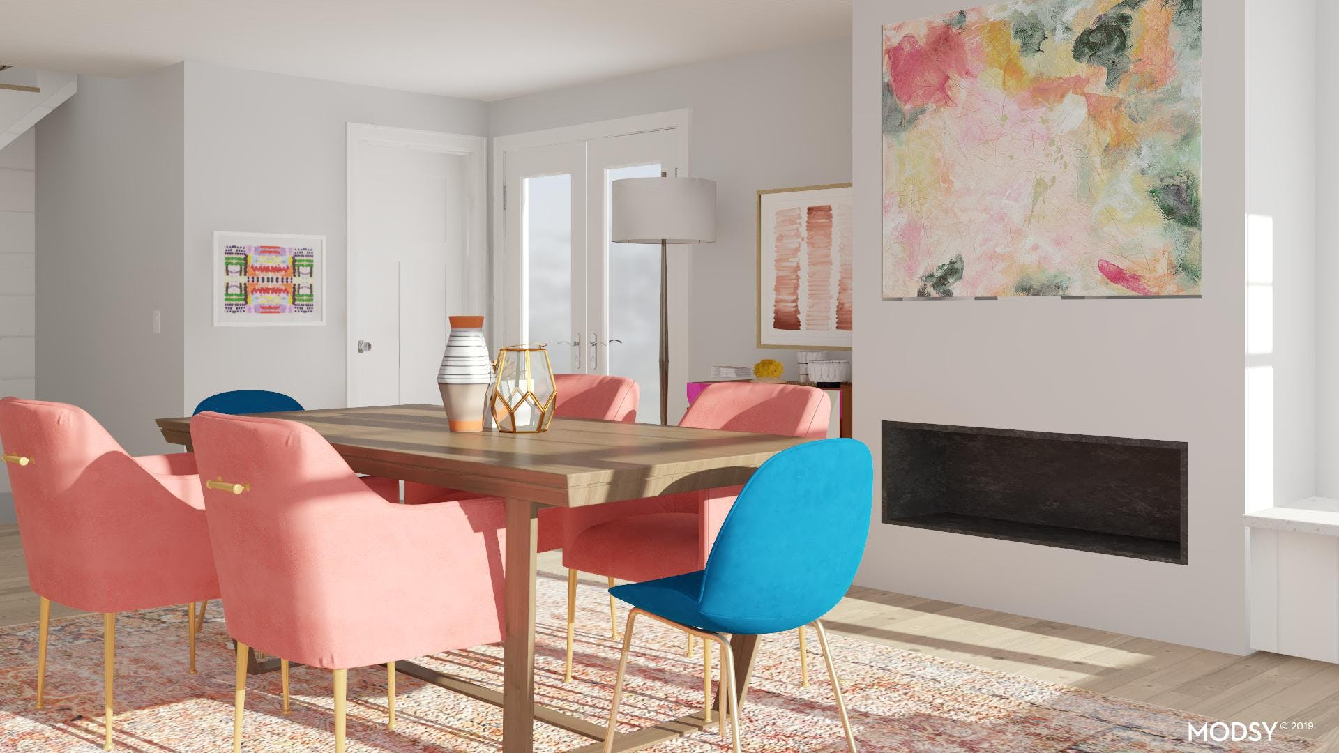 Pops of Color in the Dining Room