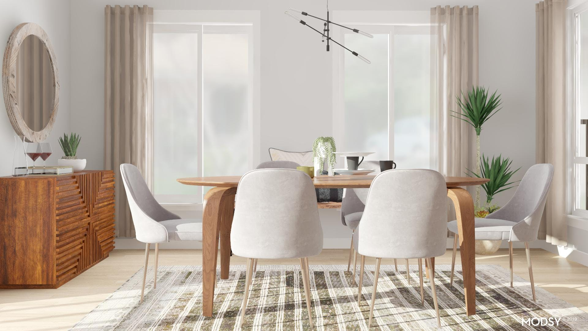 Chic and Streamlined Dining Room