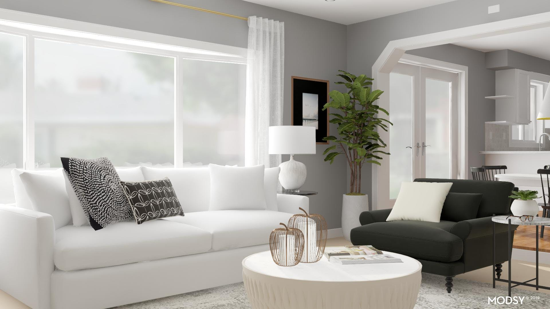 Cozy Transitional Living Room