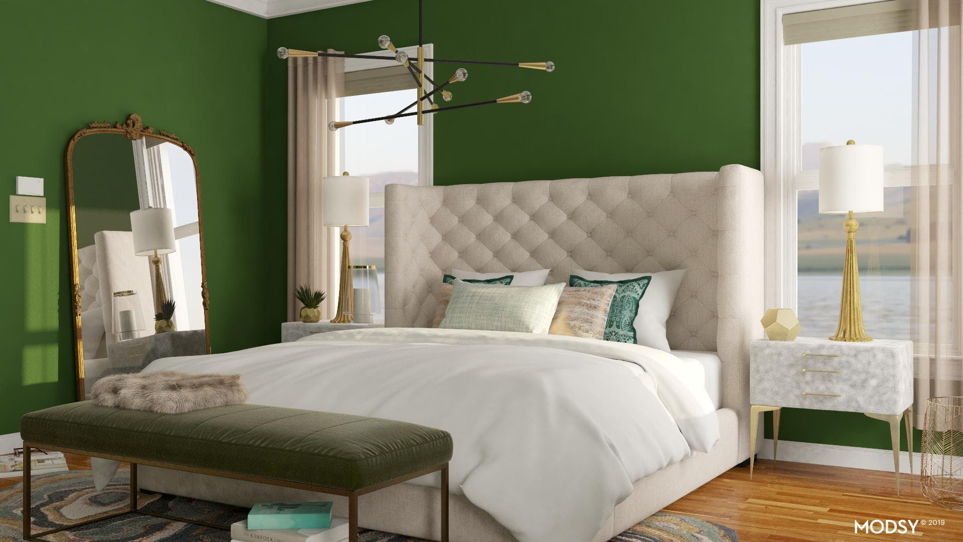 Green Glam Style