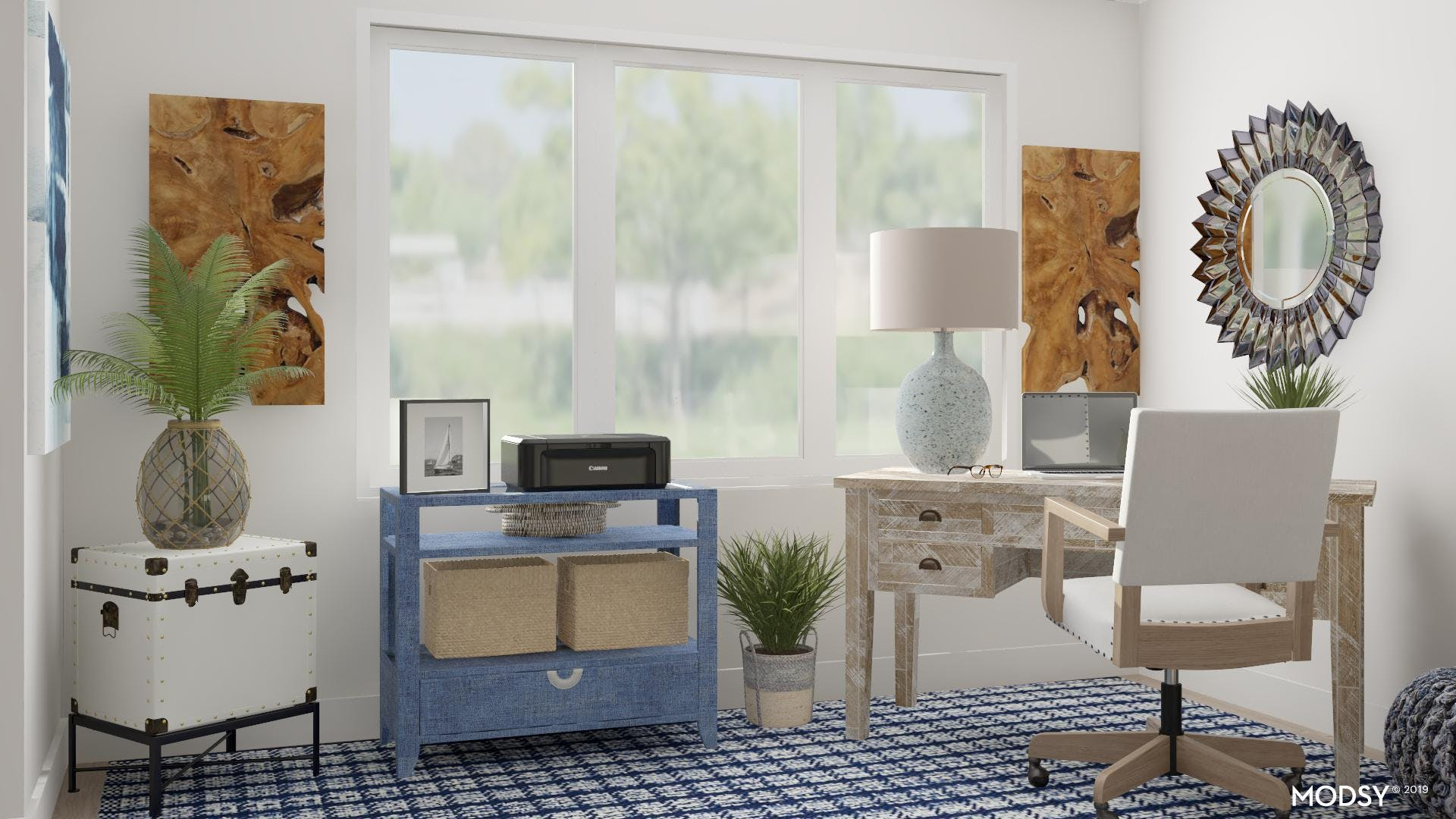 Blue Tones with Coastal Appeal Office