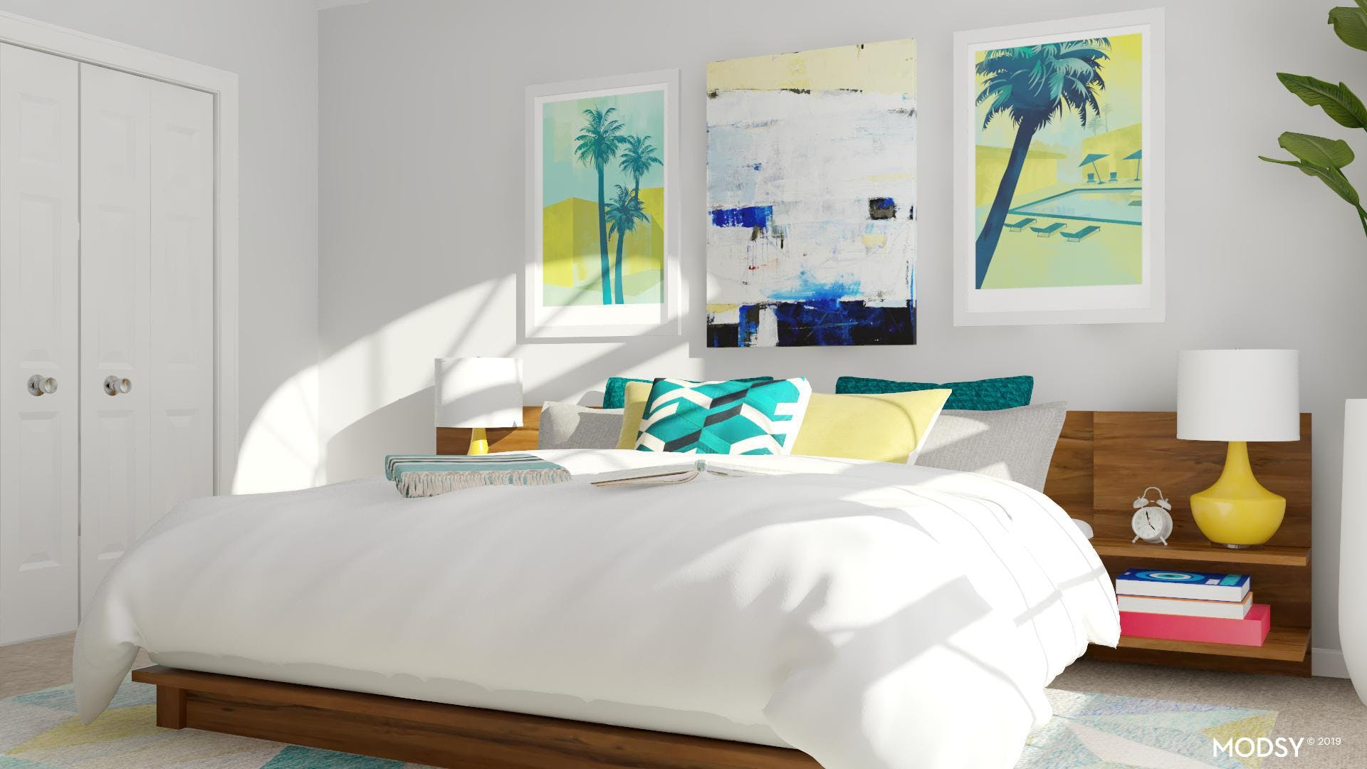 Tropical Modern Masculine Bedroom