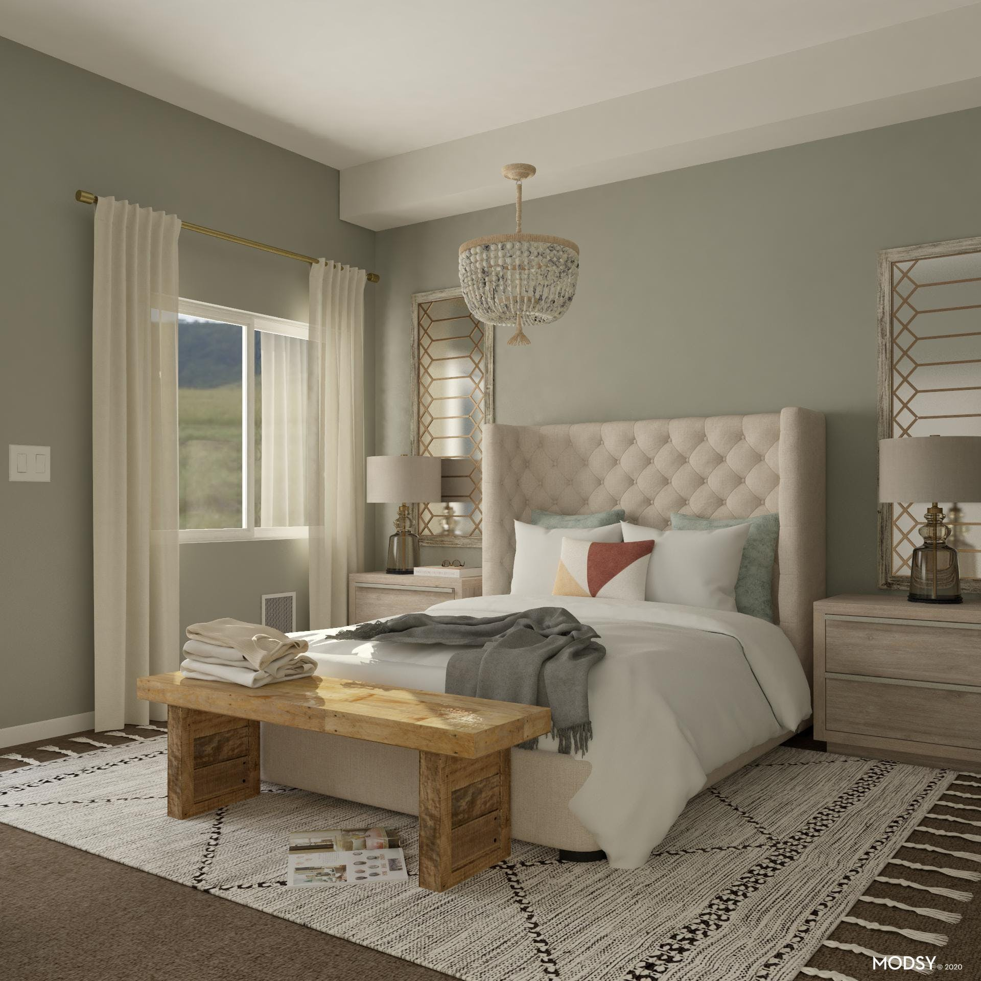 Cozy Traditional Master Suite