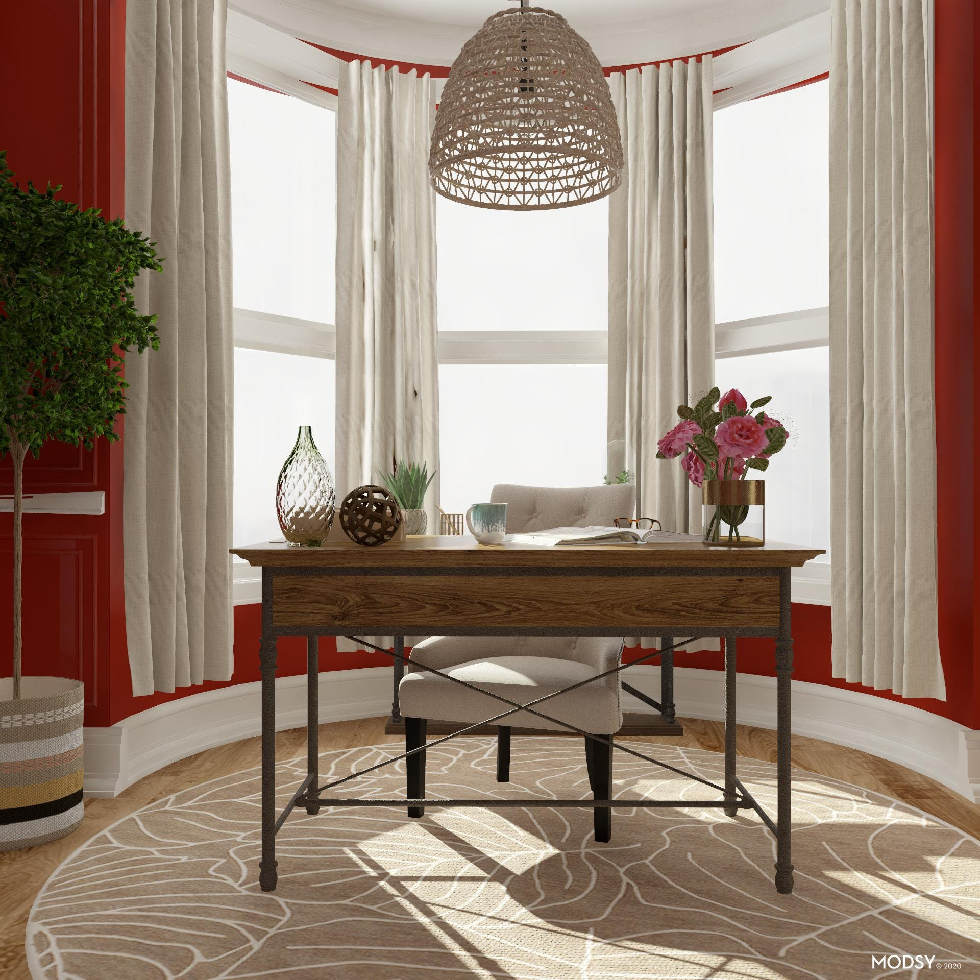 Inviting Details: Eclectic Office