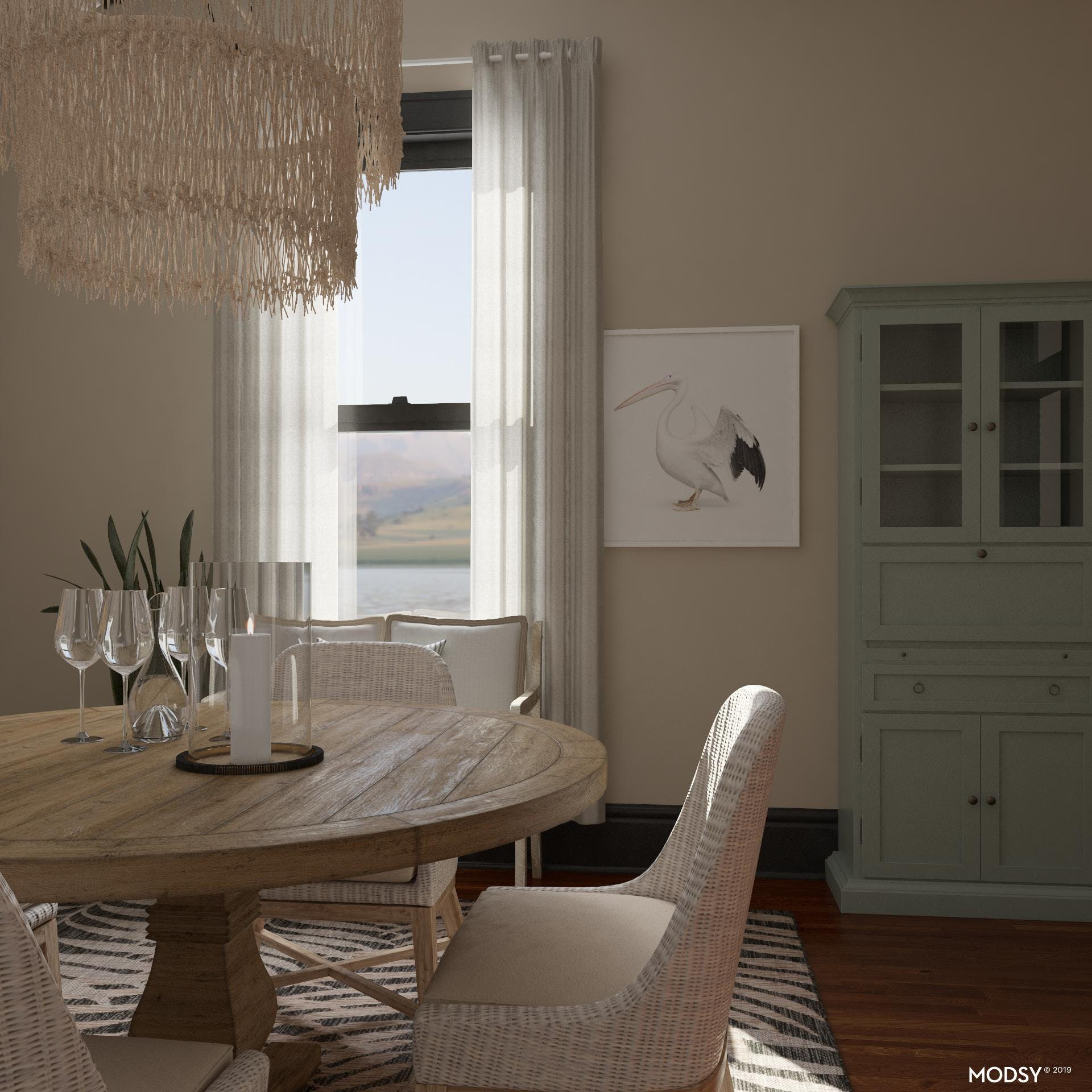 Drift Away: Coastal Dining Room