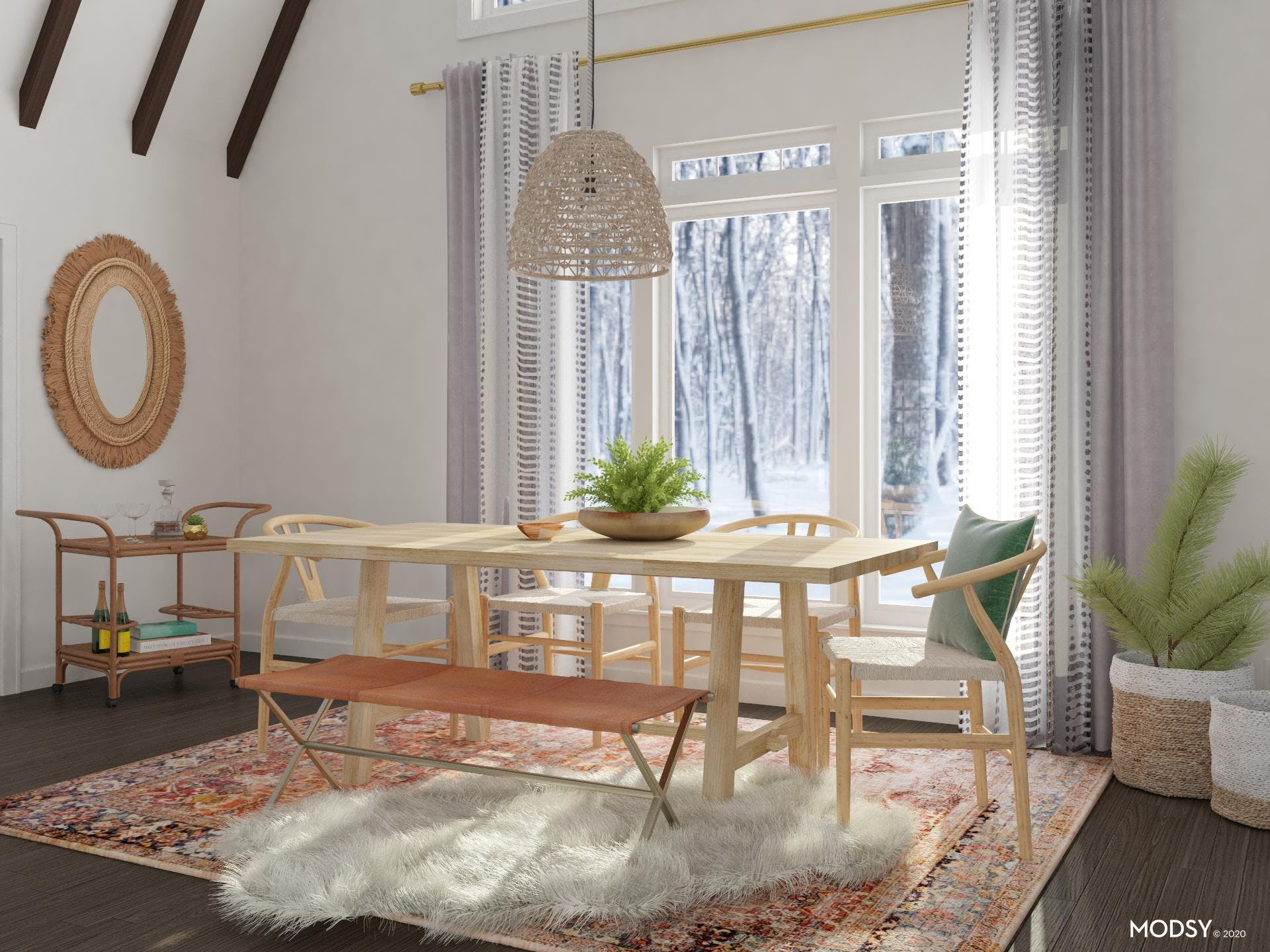 Scandi-Boho Dining Room