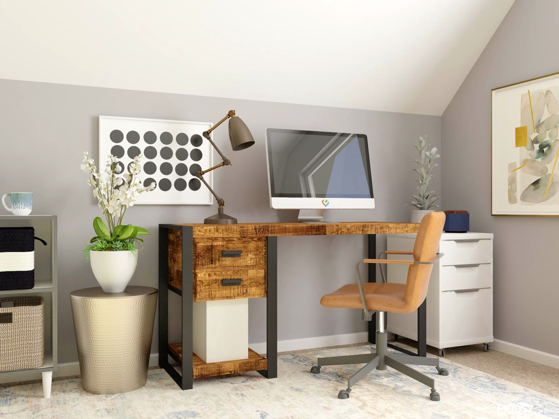 Bold Neutrals: Home Office
