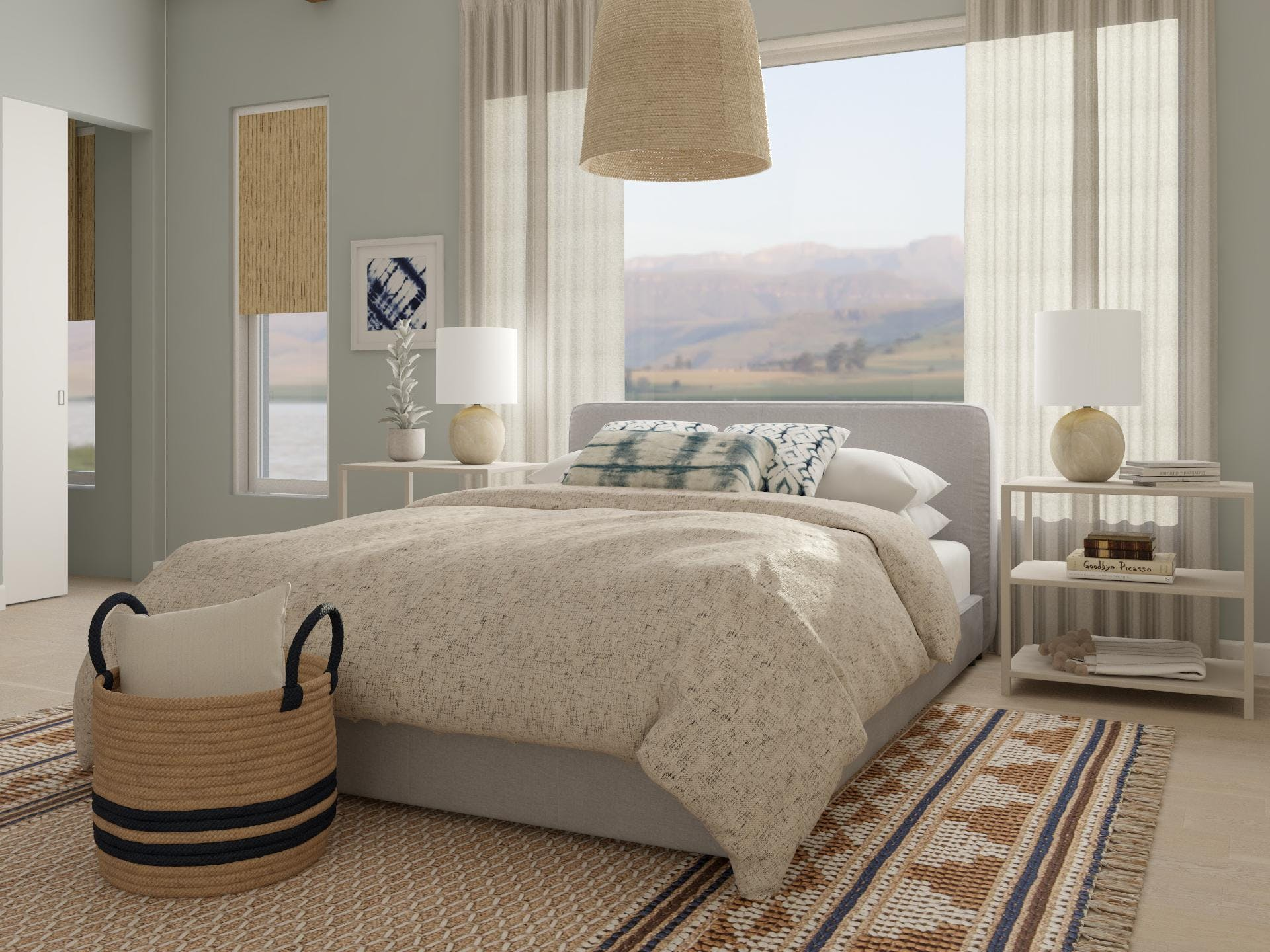 Patterns and Textures Abound in Beautiful Contemporary Bedroom