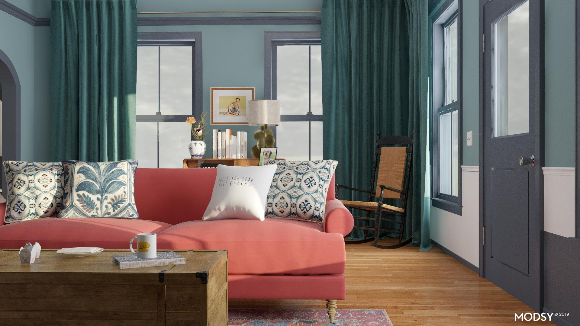 Dare To Be Bold; An Eclectic Living Room