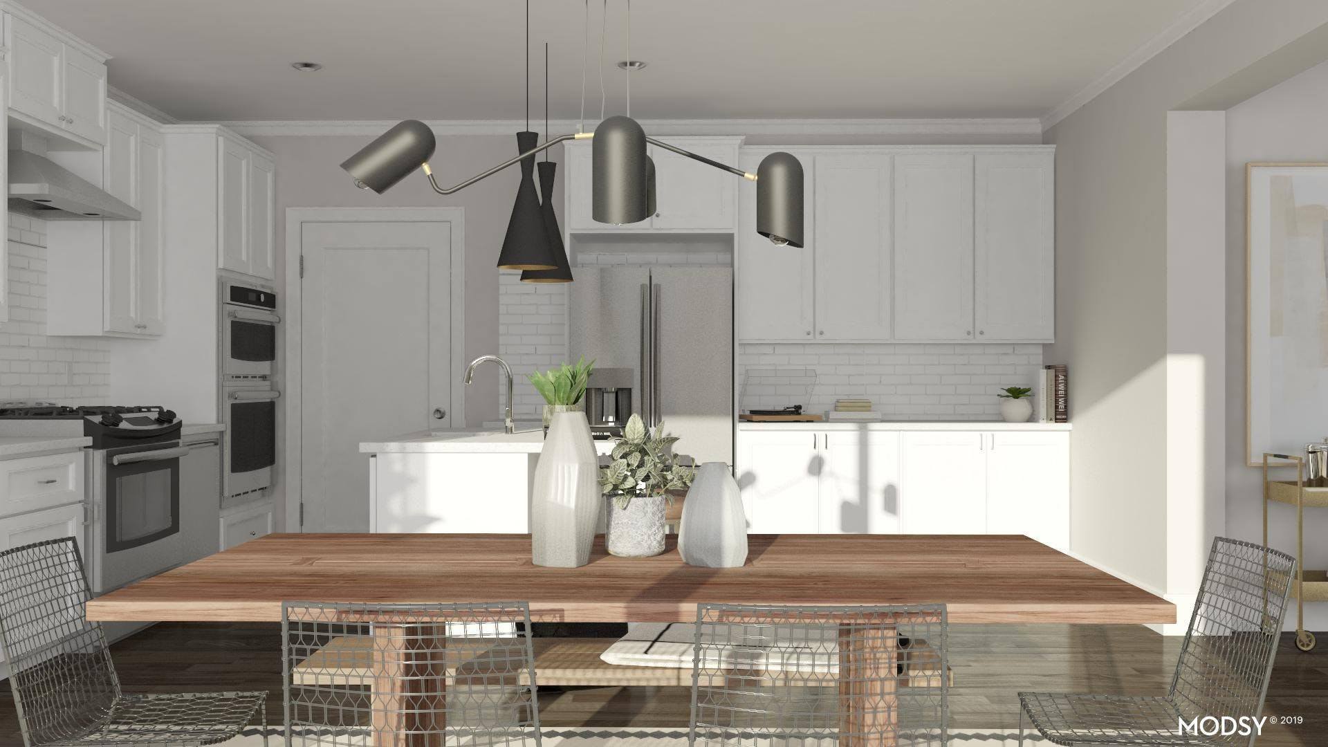 Mixing Materials In An Industrial Dining Room