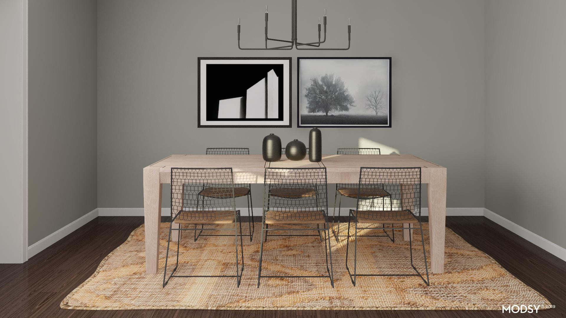 Contemporary Meets Modern Dining Room