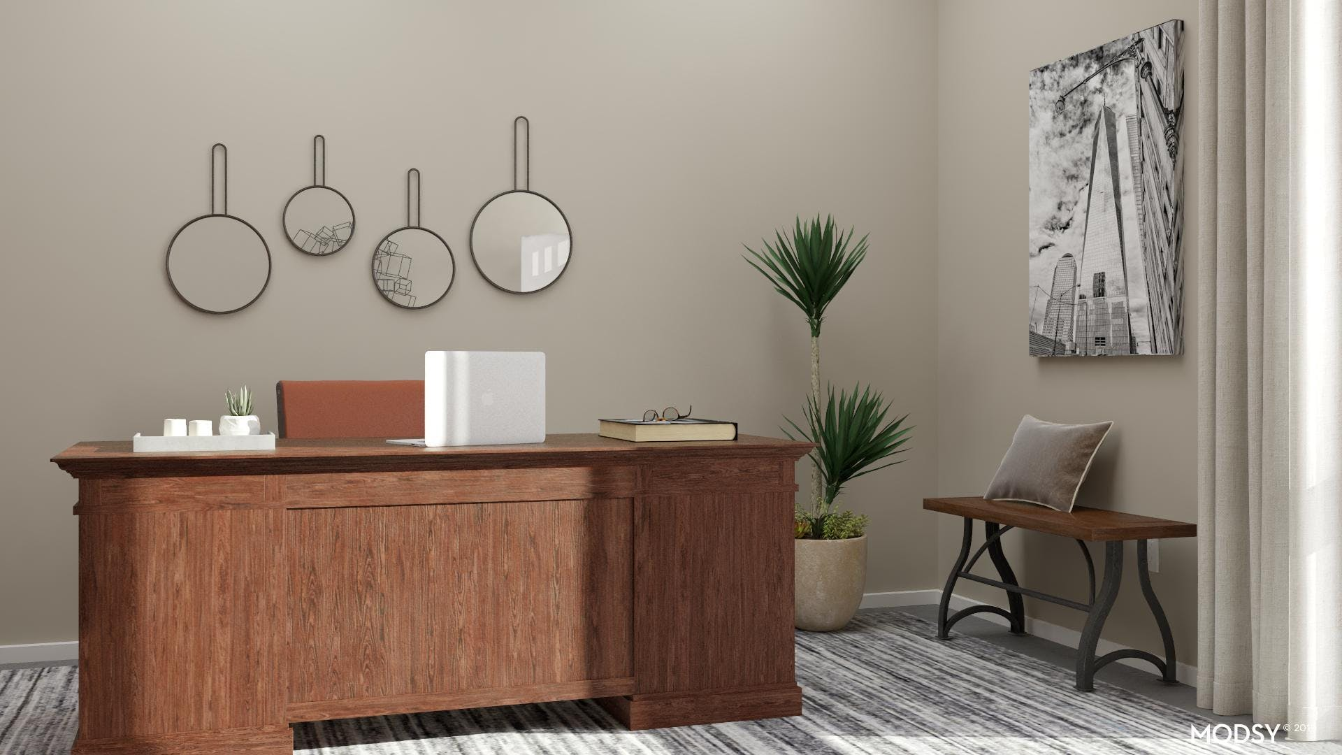 Mixing Neutrals: Industrial Home Office