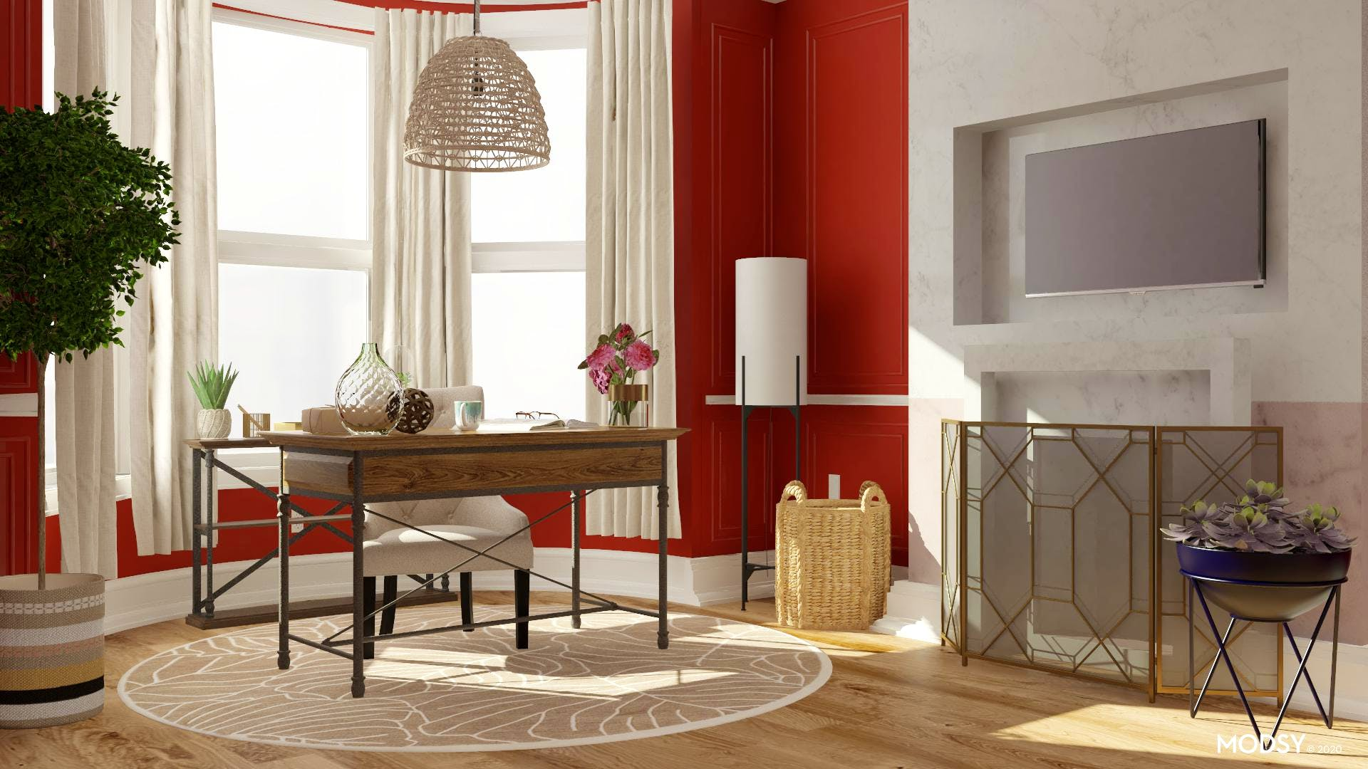 Earth Tone Eclectic Office