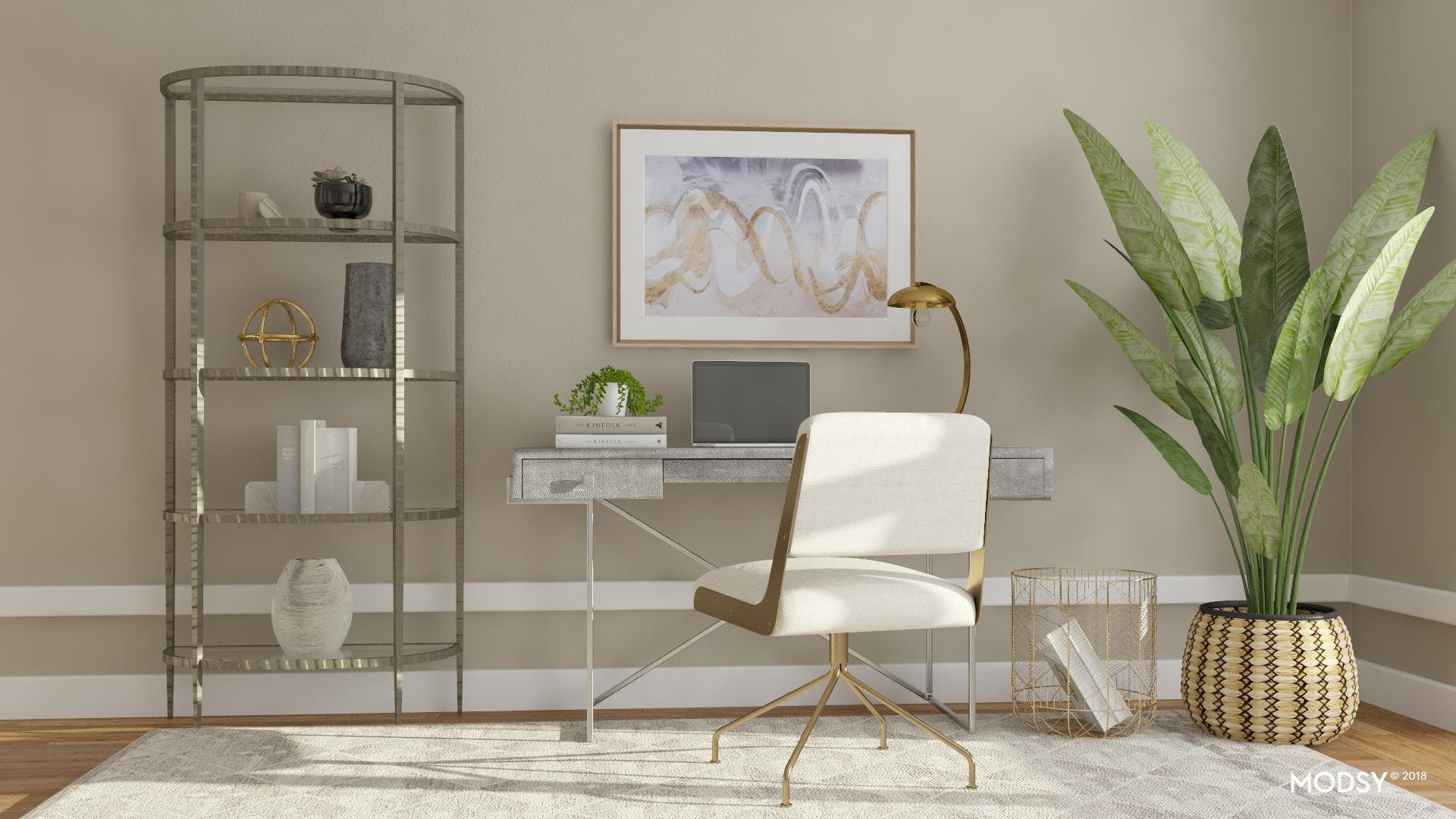 Contemporary-Chic Home Office