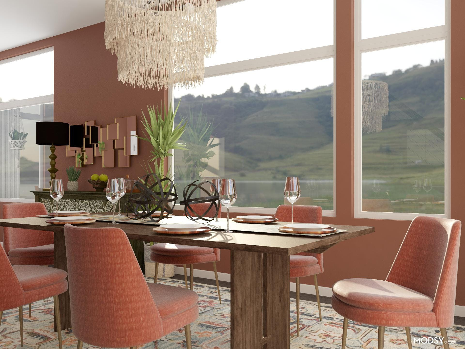 Rich Earth Toned Dining Room