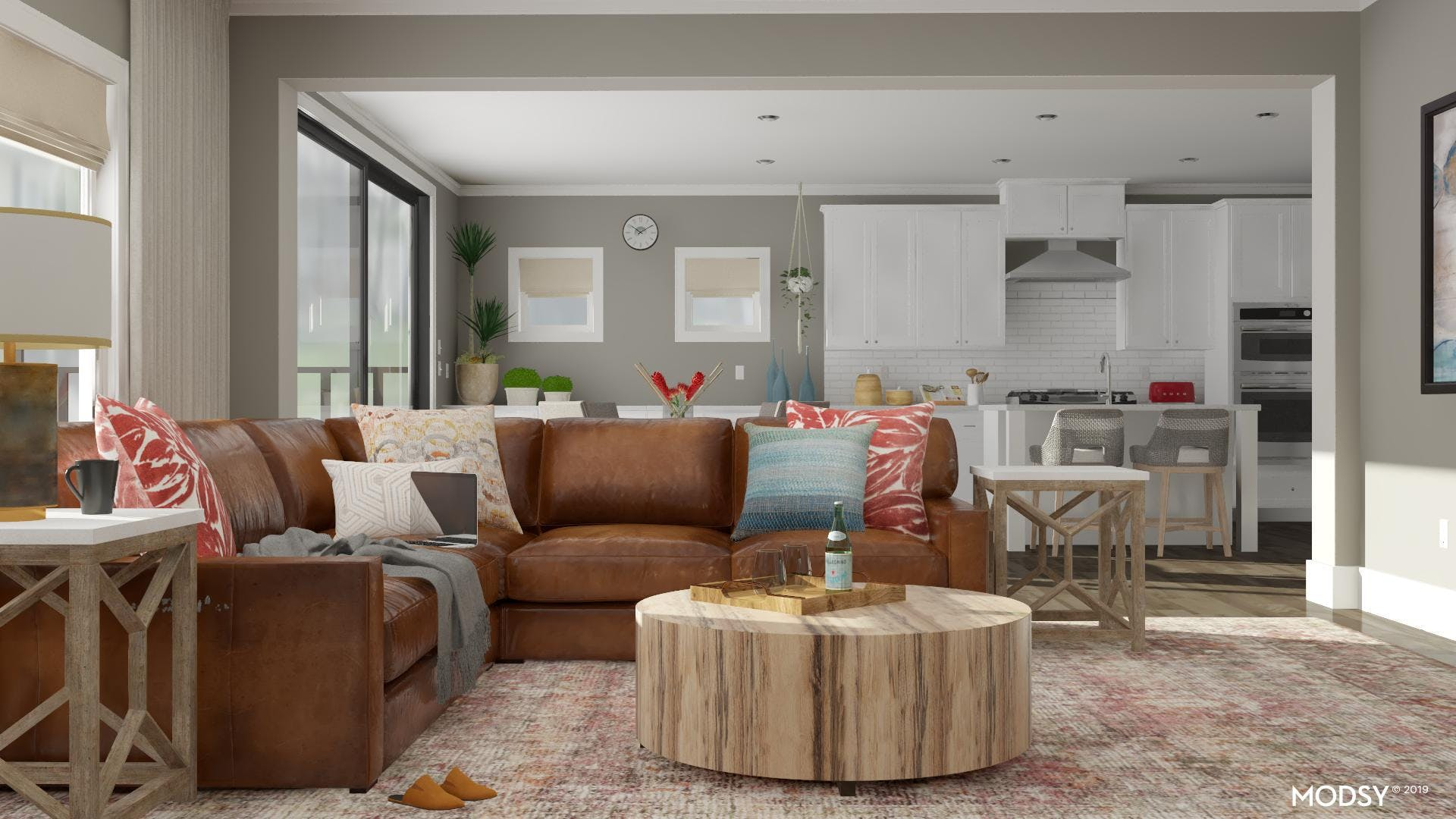 Colorful Rustic Living Room