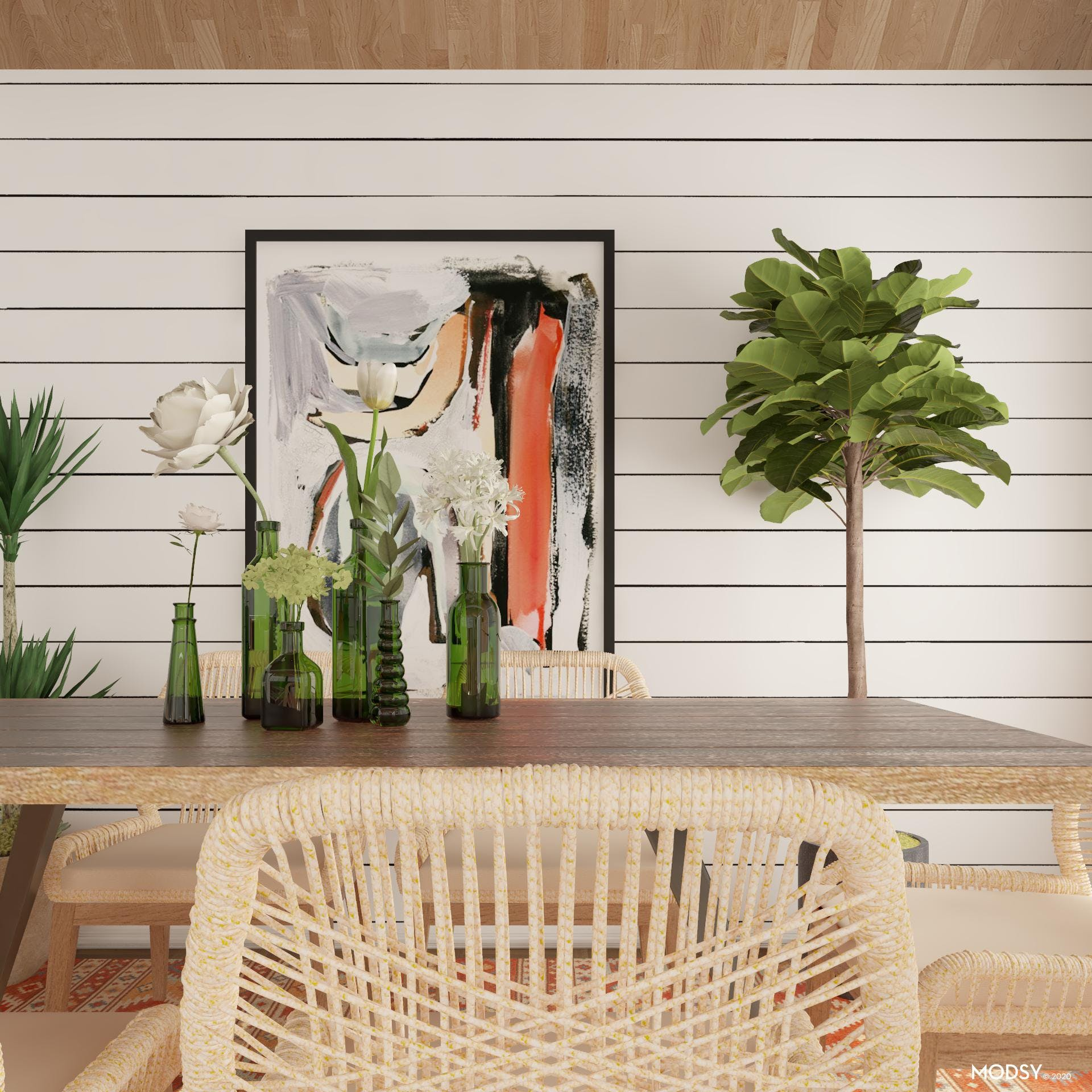 Feel free and relax in the Eclectic Dining Room