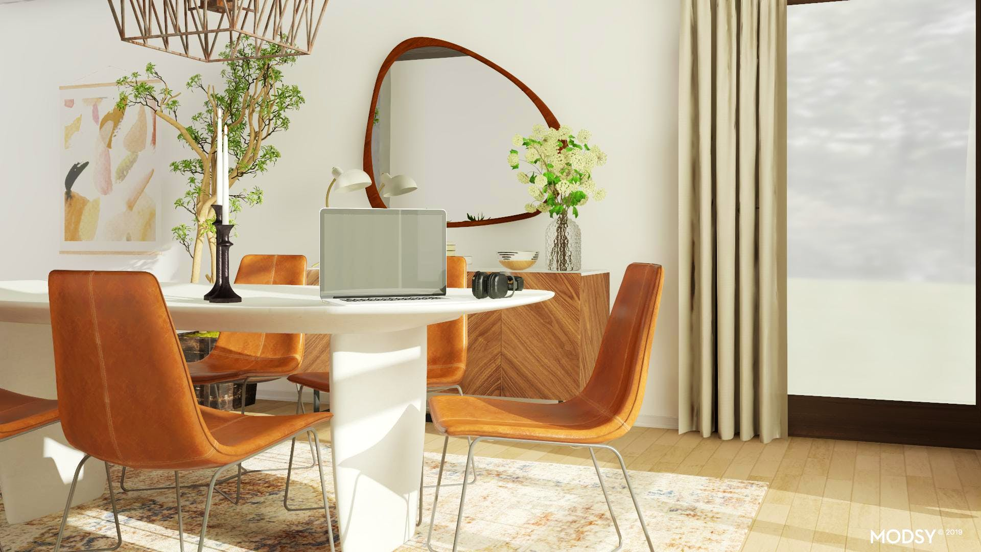 Mid-Century Dining Room For The Trend Setter