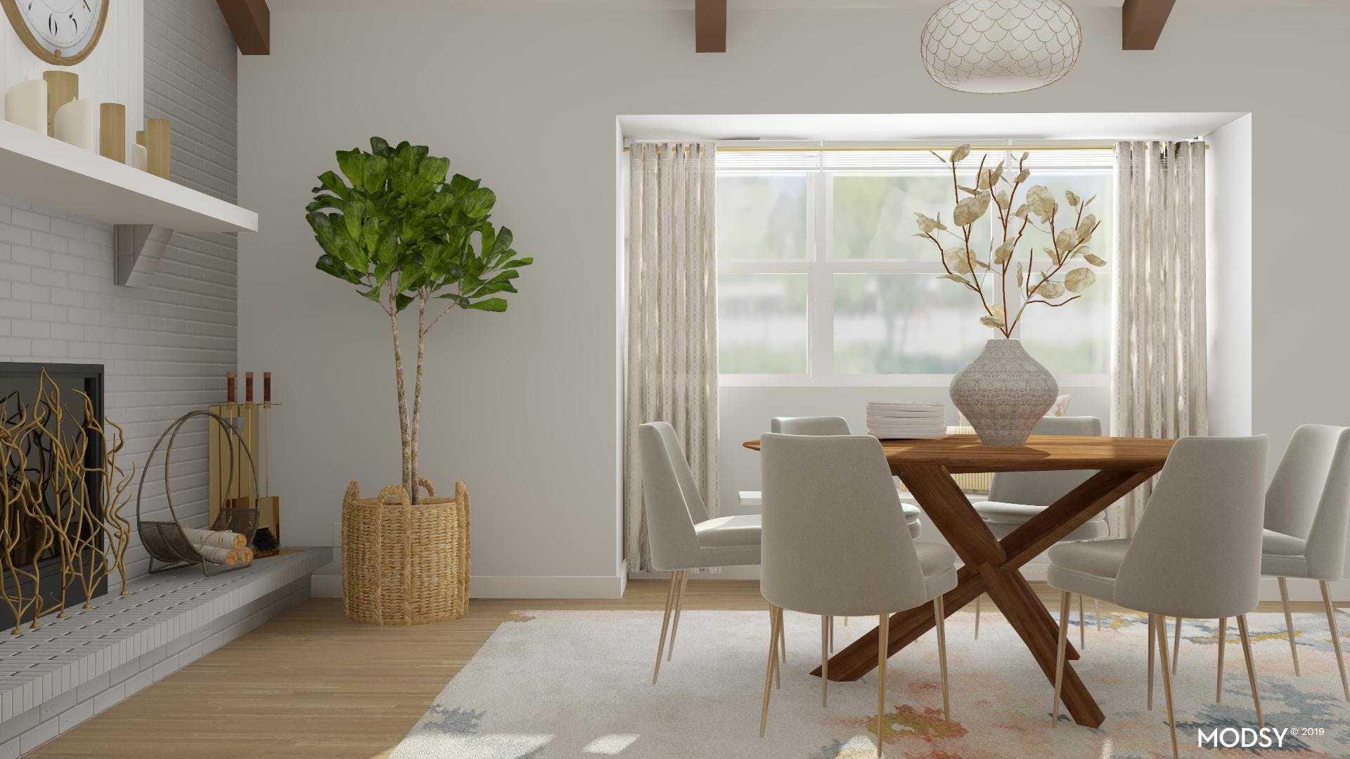 Soothing Eclectic Dining Room