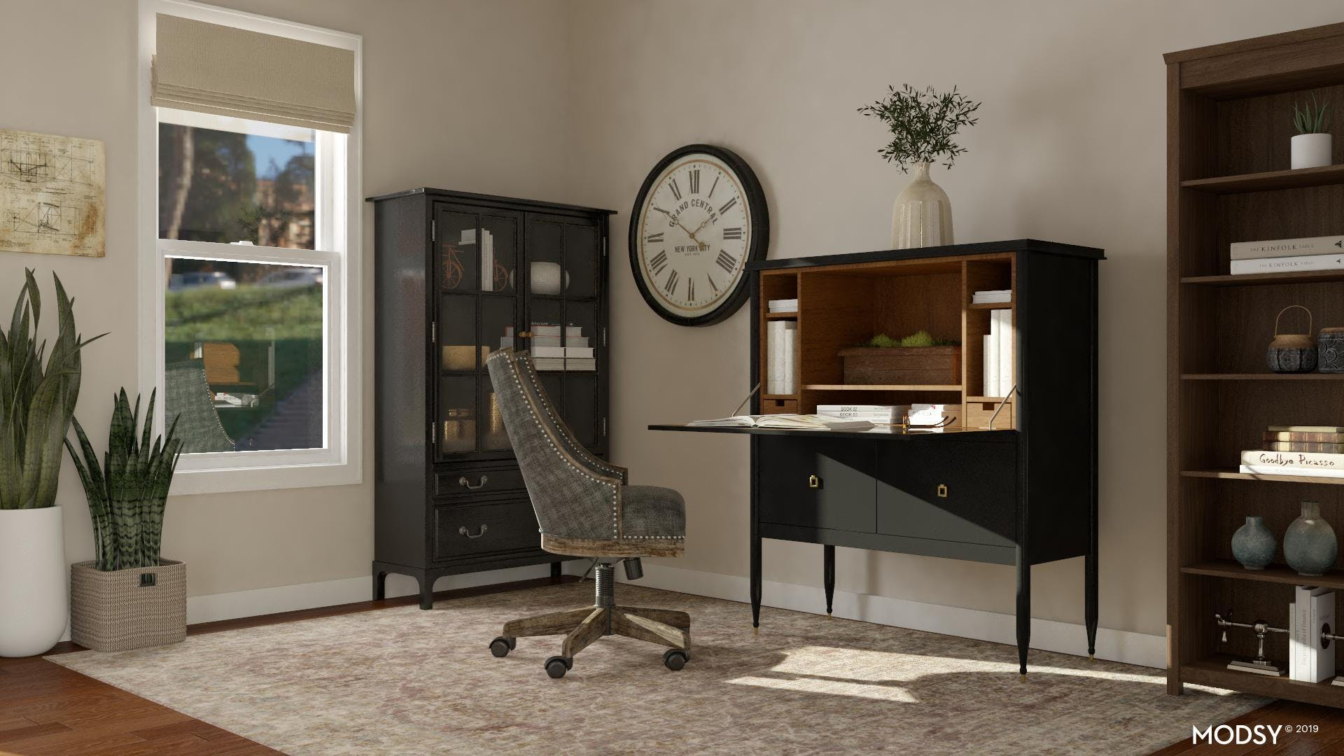 Neutral Traditional Office