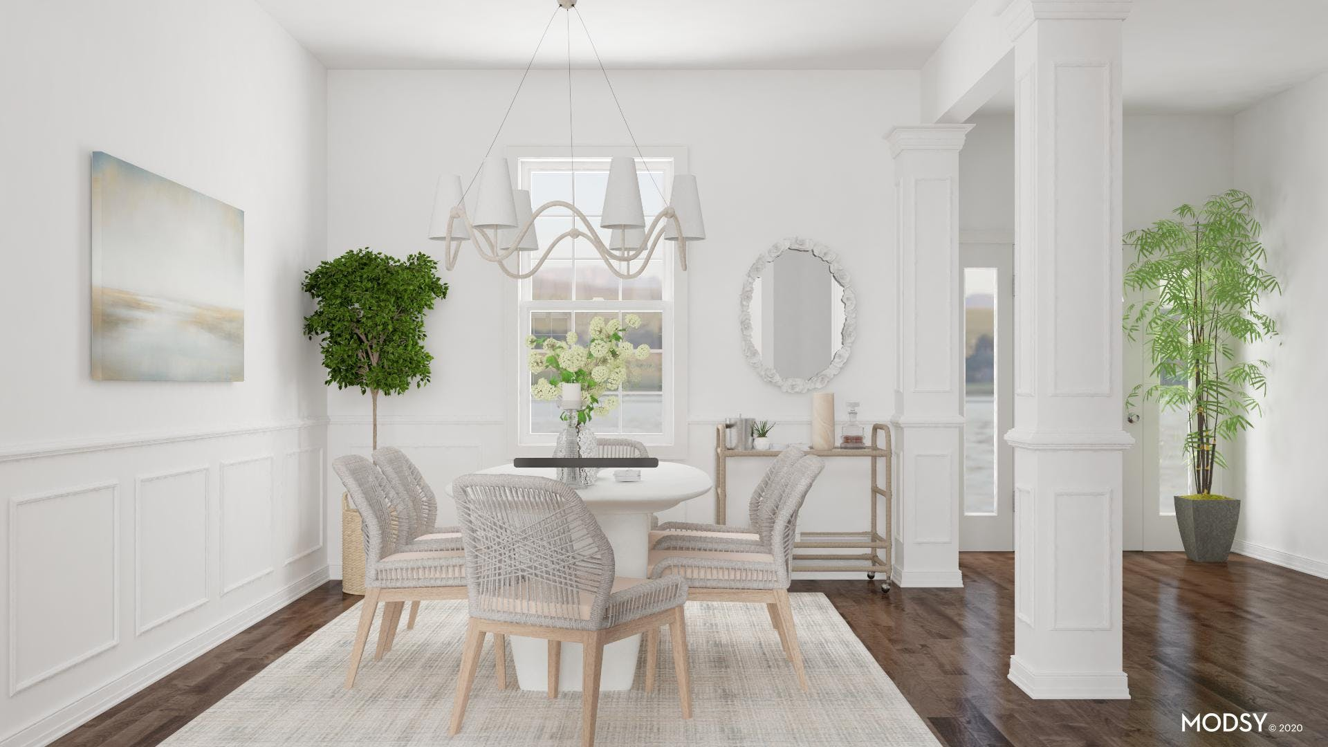 Sandy Color Palette: Beachy Dining Room