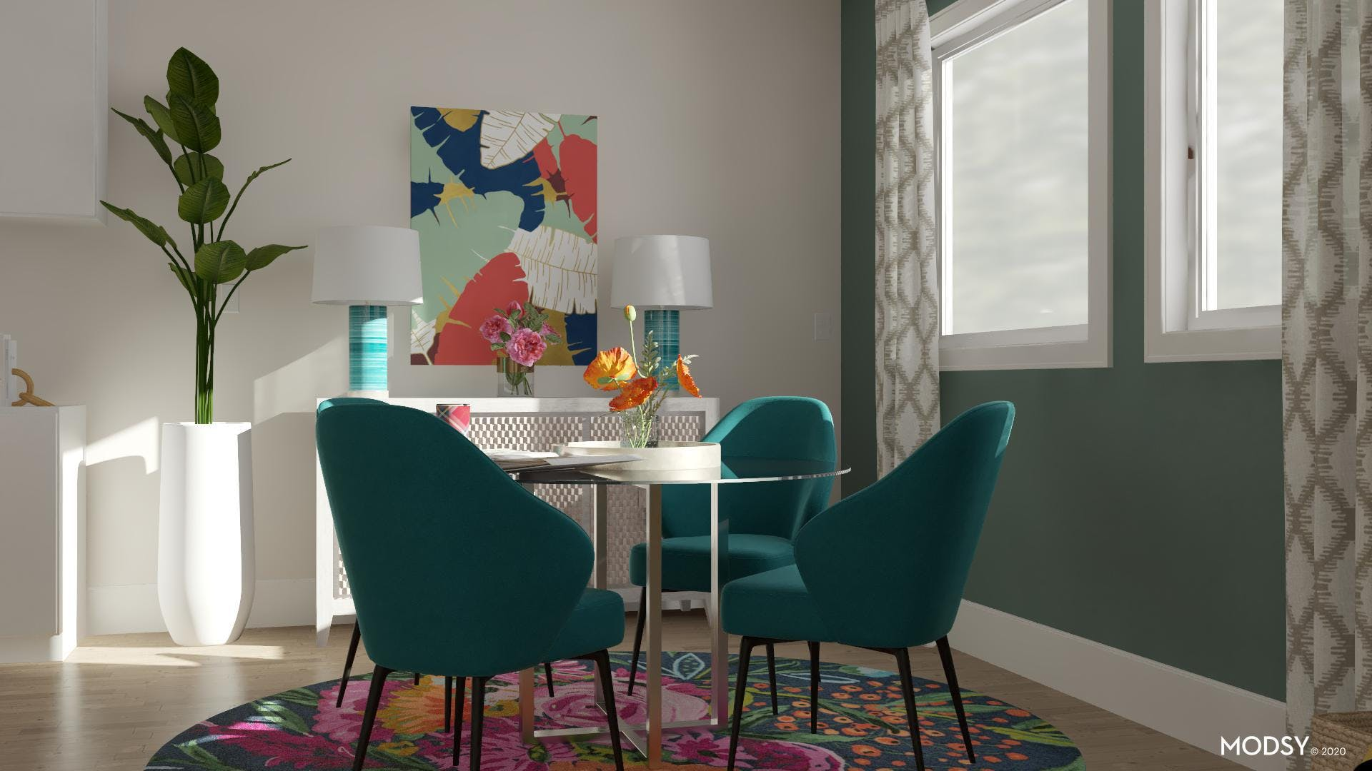 Eclectic Multicolor Dining