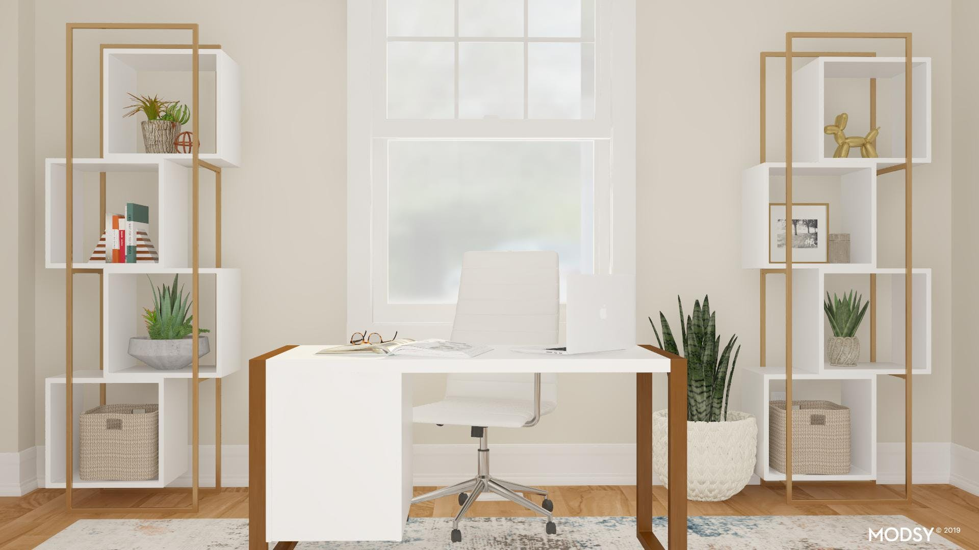 Accents In White: Modern Office