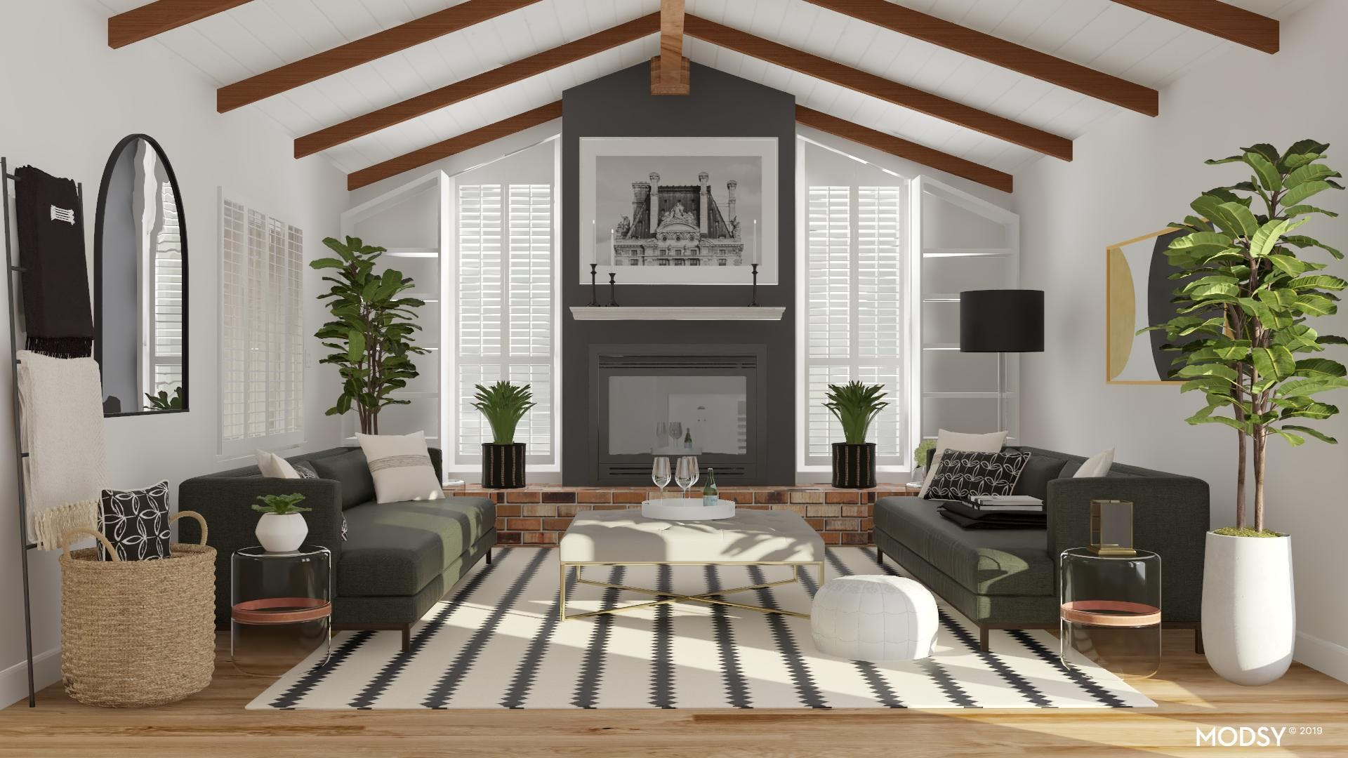 Subtle Living Room with Drama