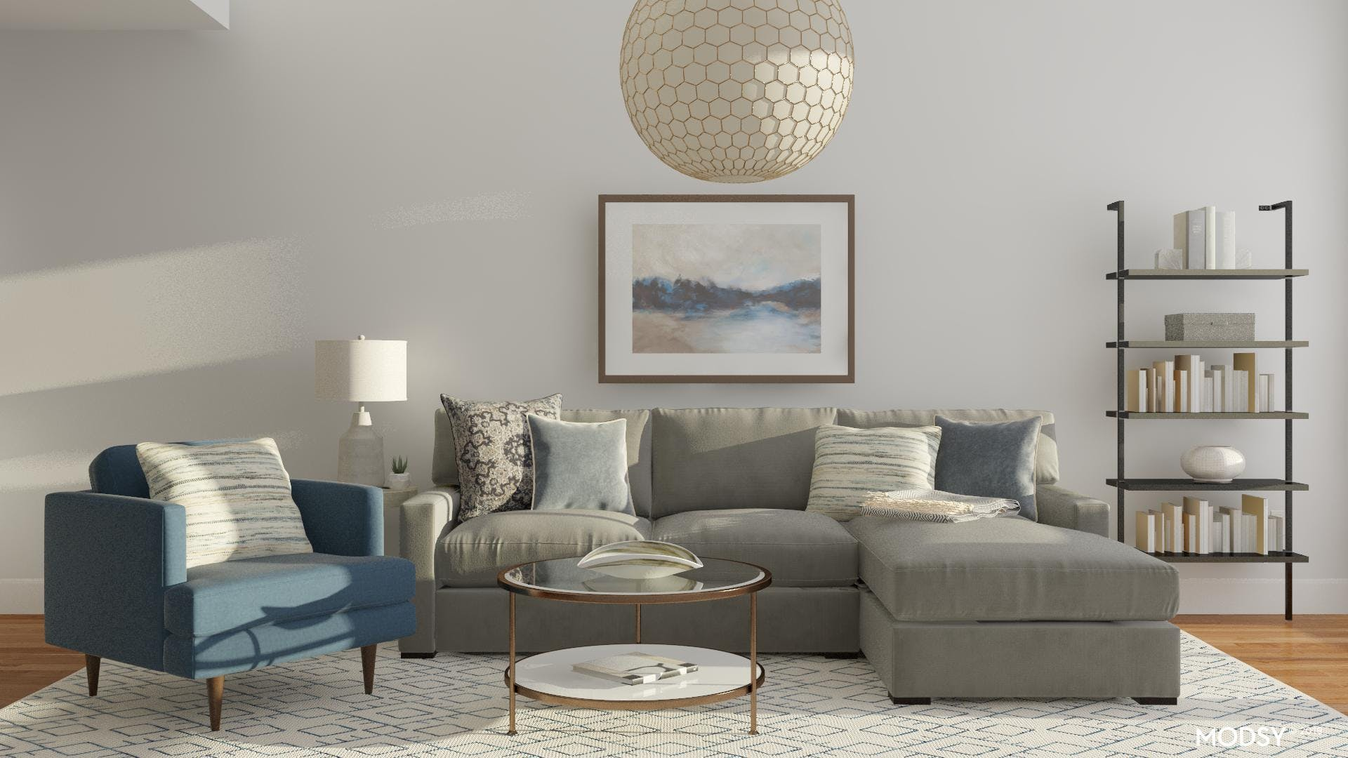 A Living Room with Casual Elegance