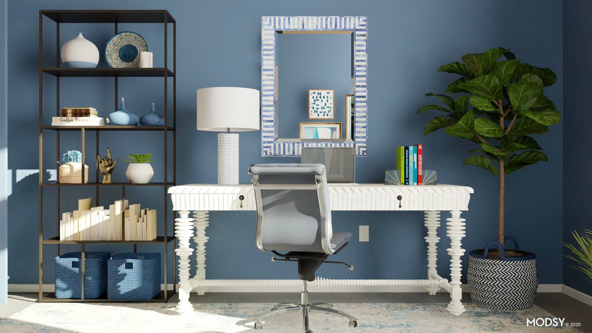 Blue Eclectic Office