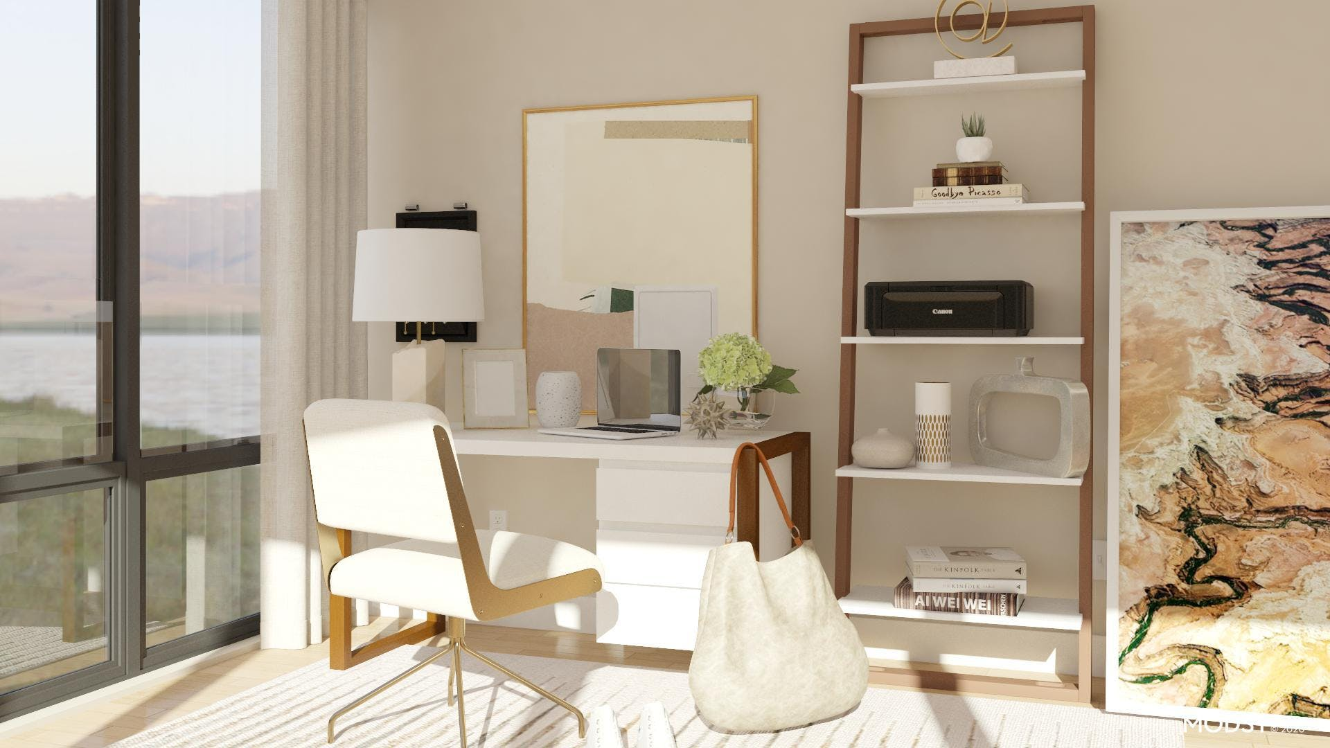 Abstract Home Office Design