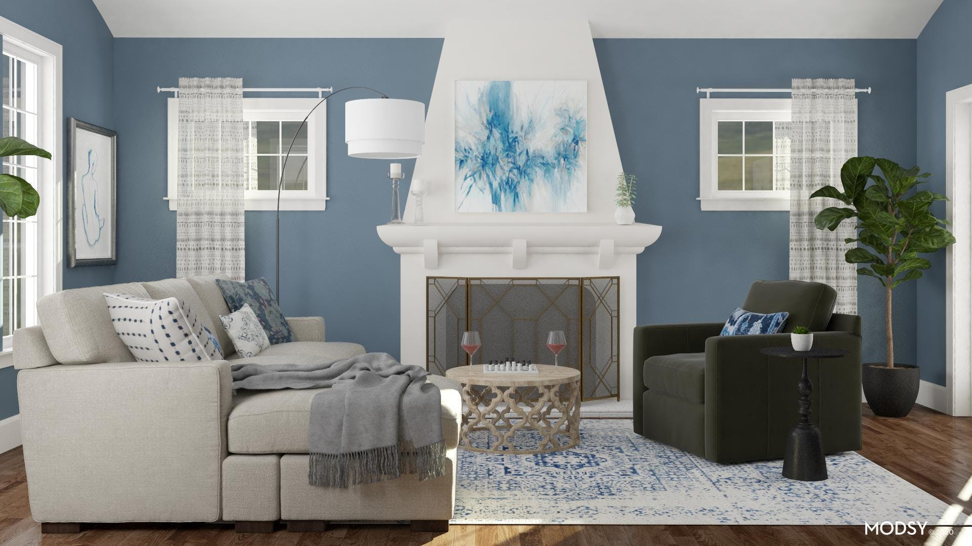 Blue Gray Traditional