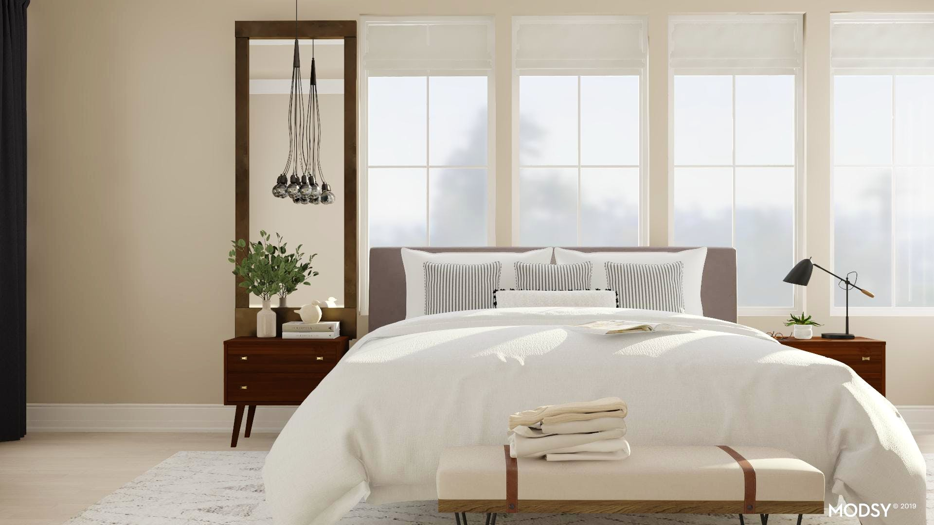 Cozy And Clean-Lined Master Bedroom | Modern-Style Bedroom ...