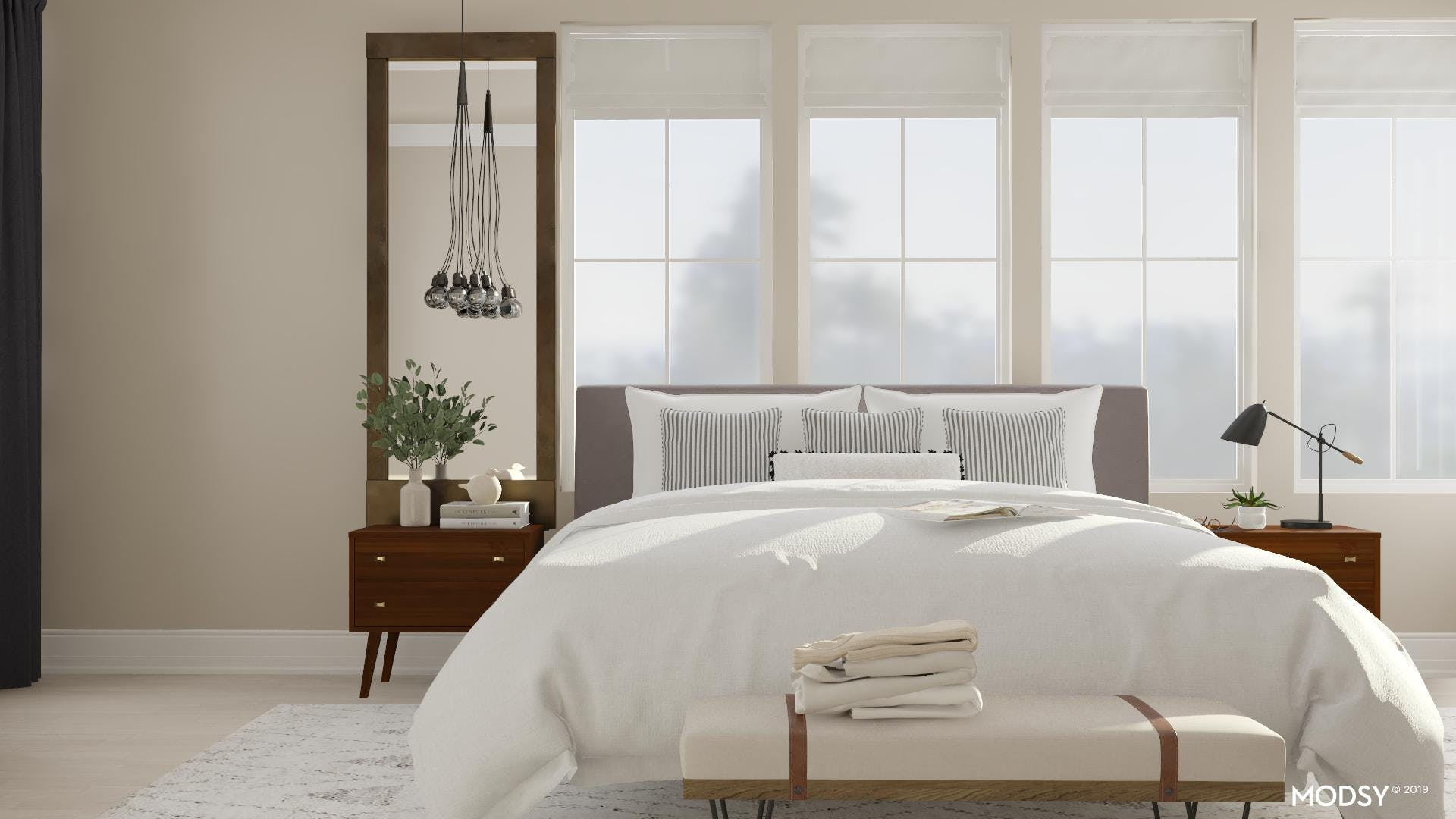 Cozy And Clean-Lined Master Bedroom