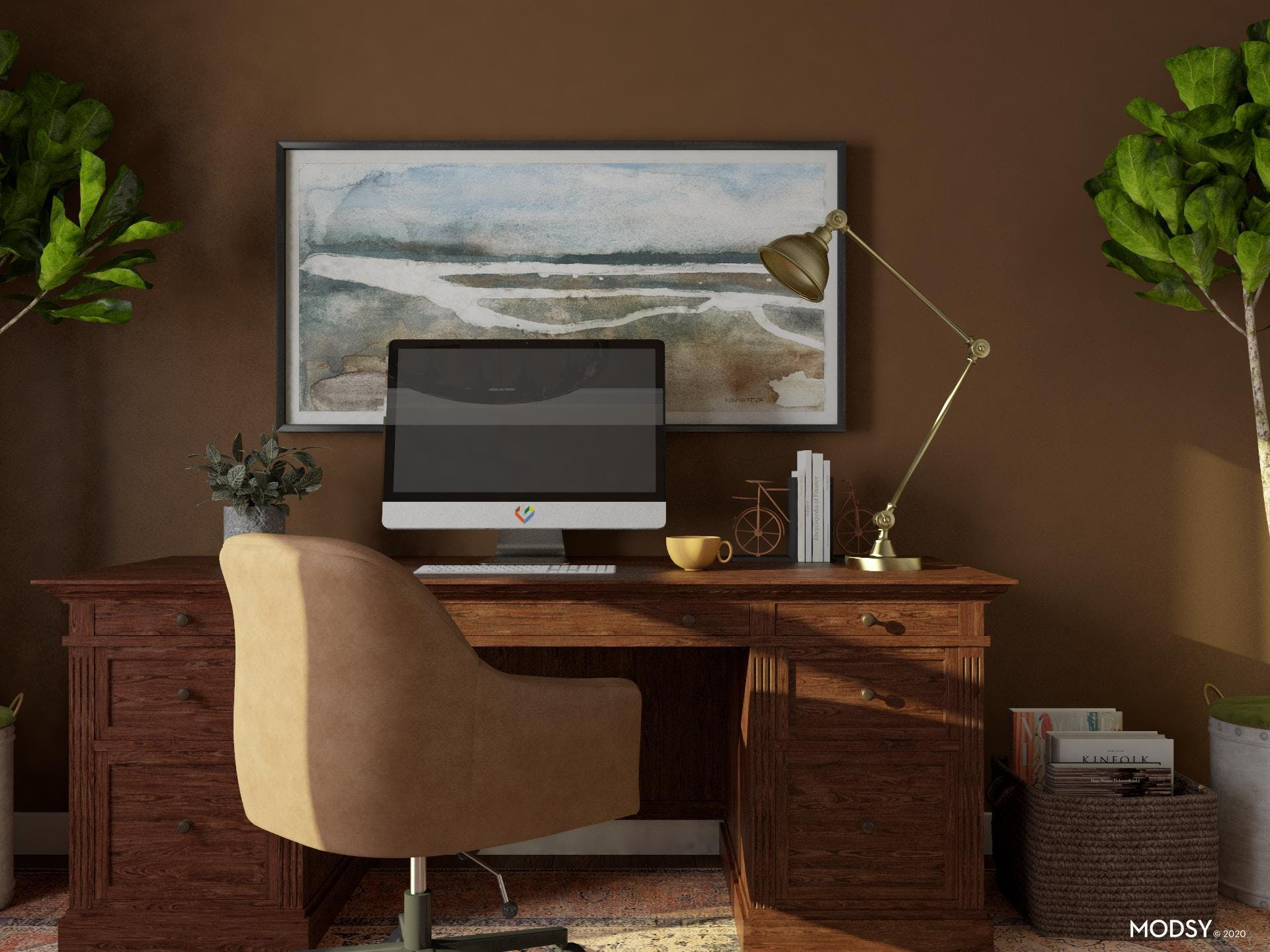 Storage and Organization in Traditional Home Office